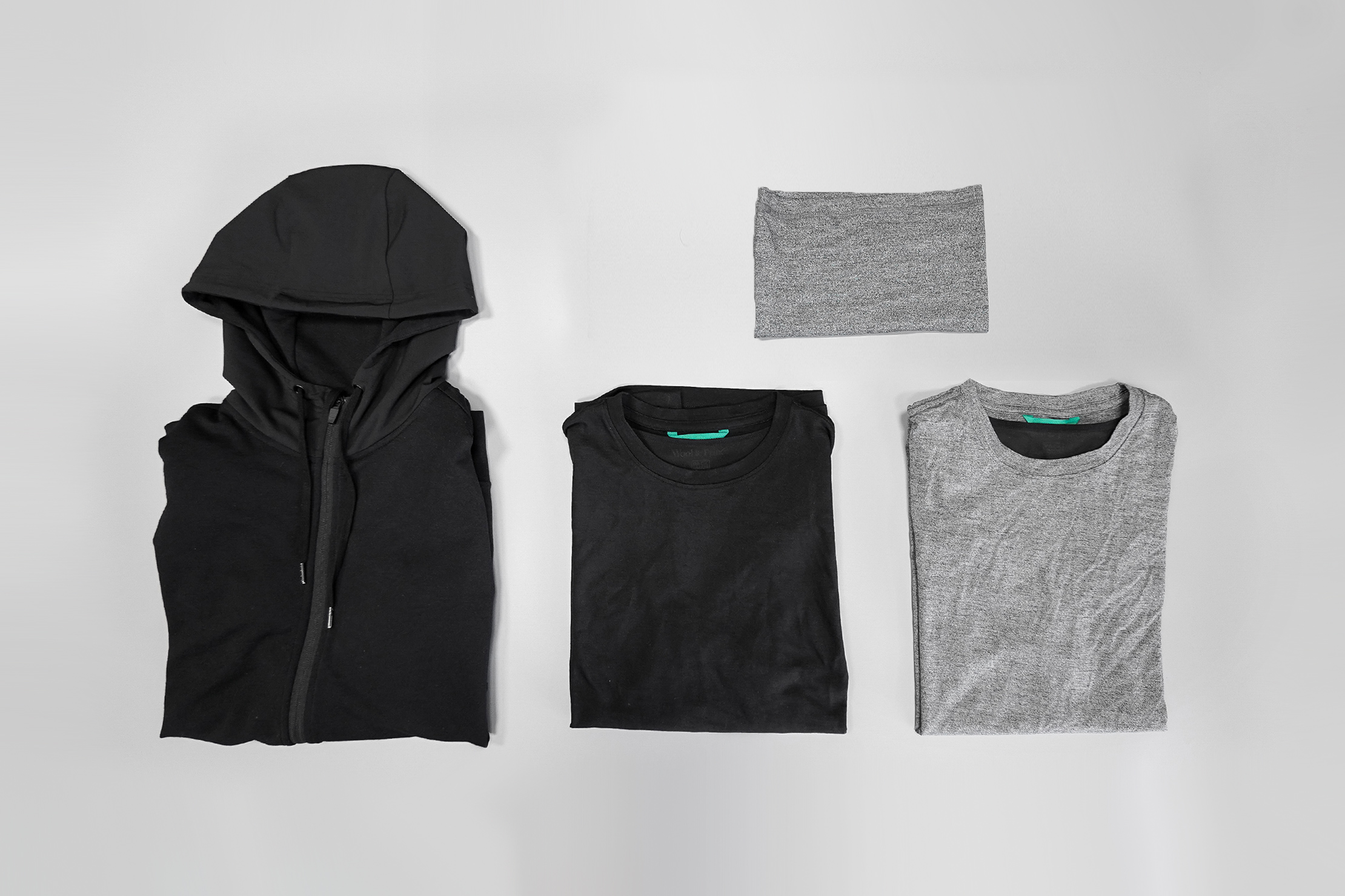 Wool & Prince x Pack Hacker Travel Collection Flat Lay