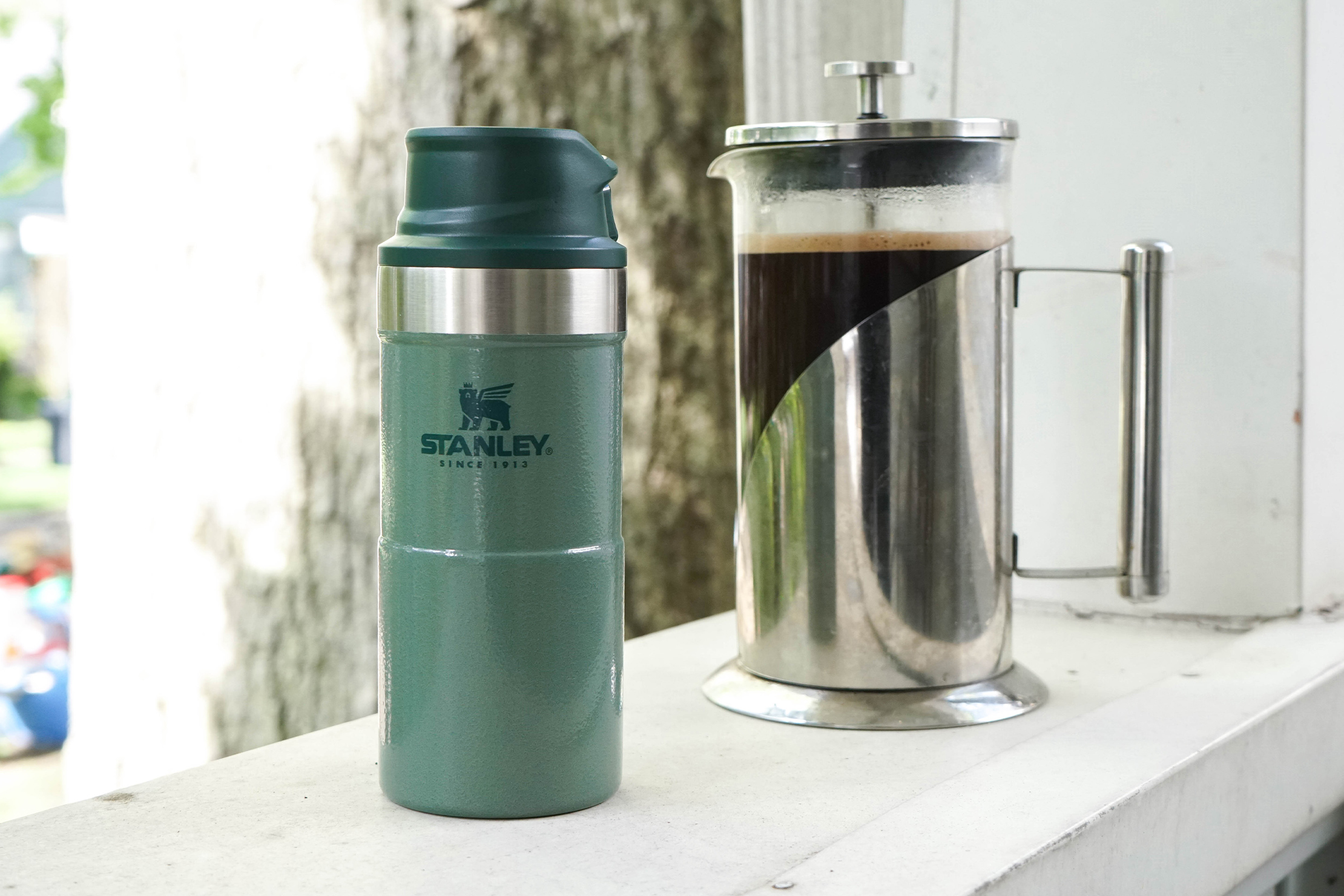 Stanley Classic Trigger-Action Travel Mug 12oz with Coffee