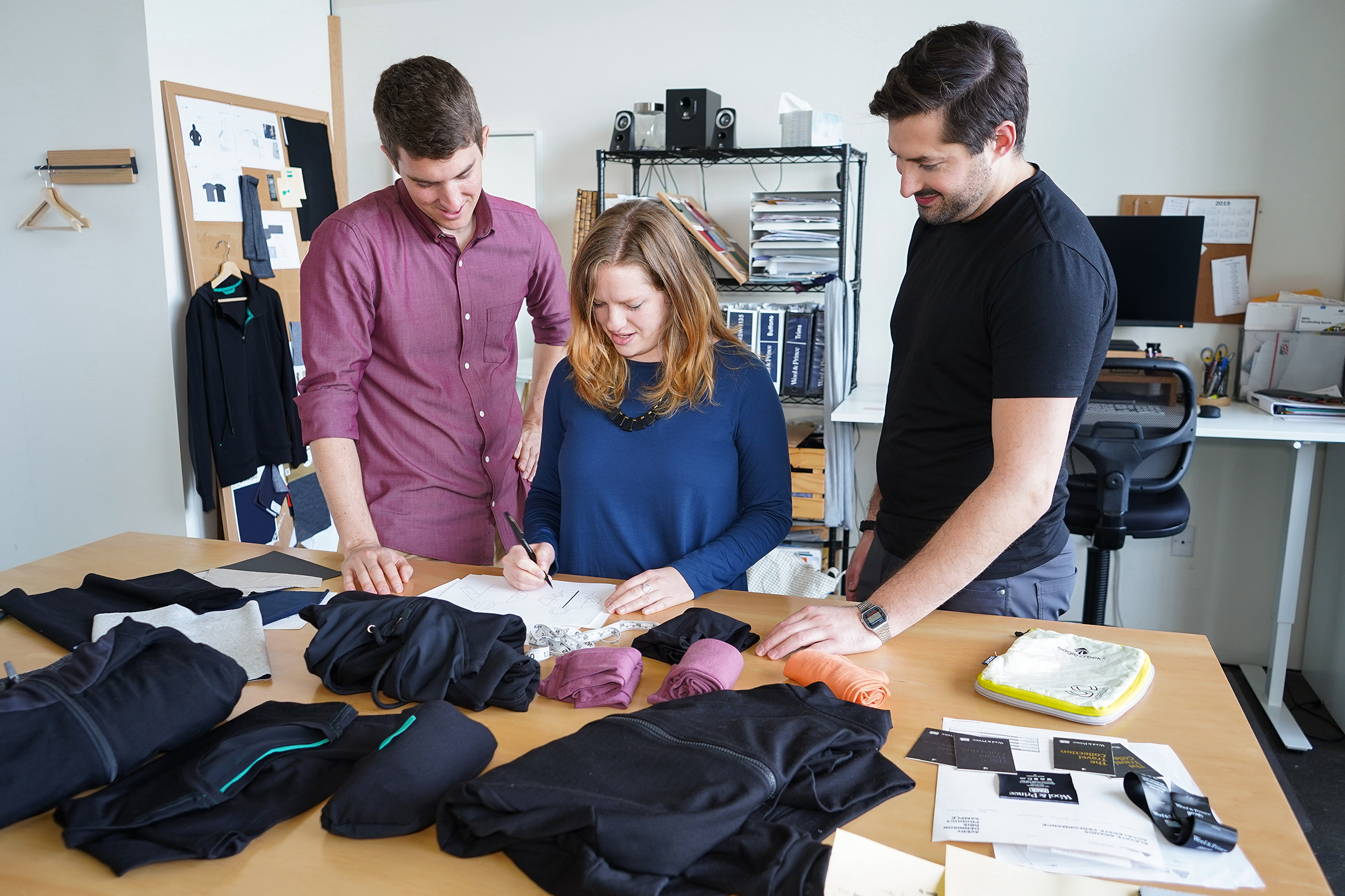 Collaborating at the Wool & Prince HQ in Portland