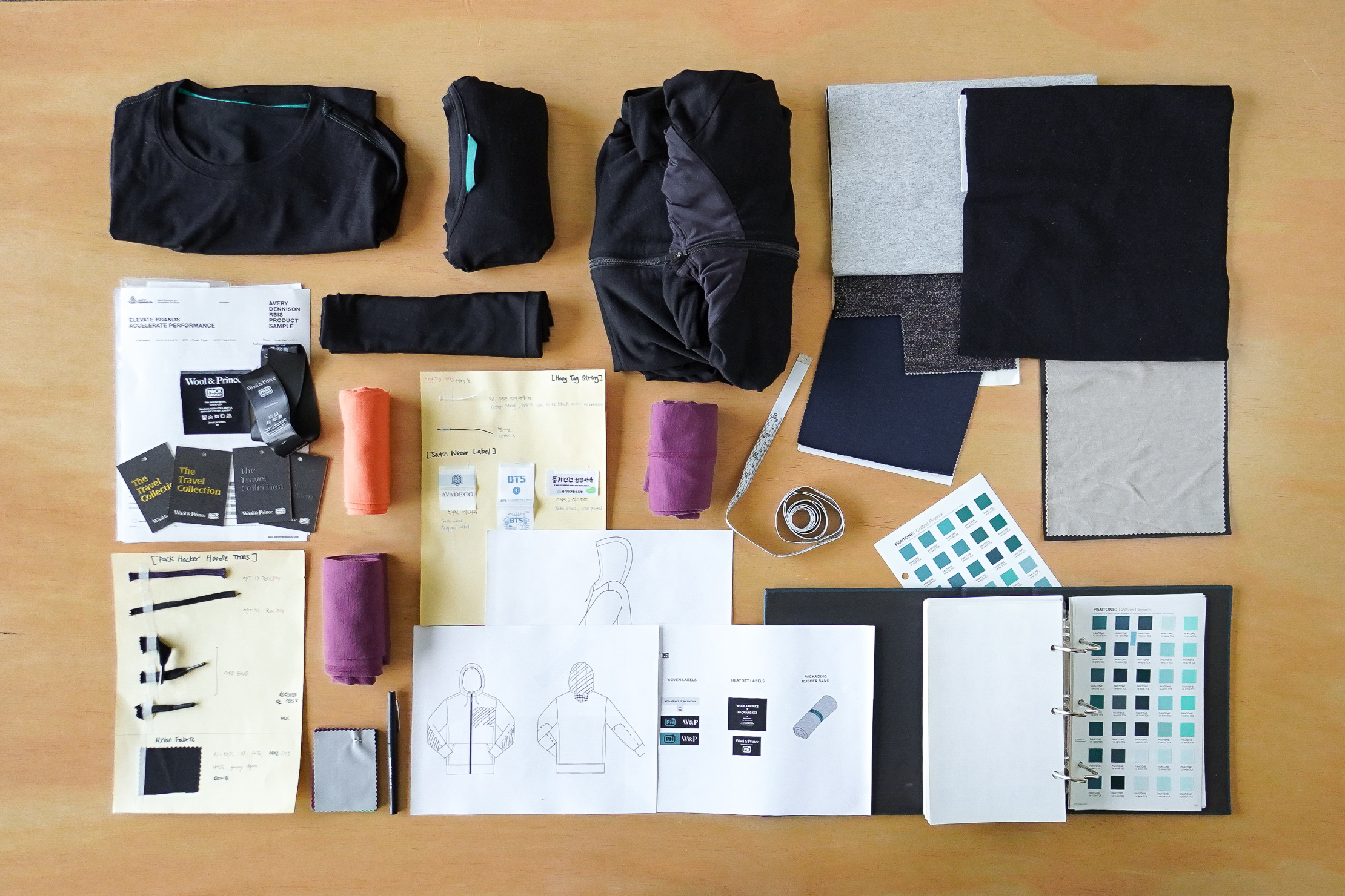 Materials and Designs at Wool & Prince HQ in Portland