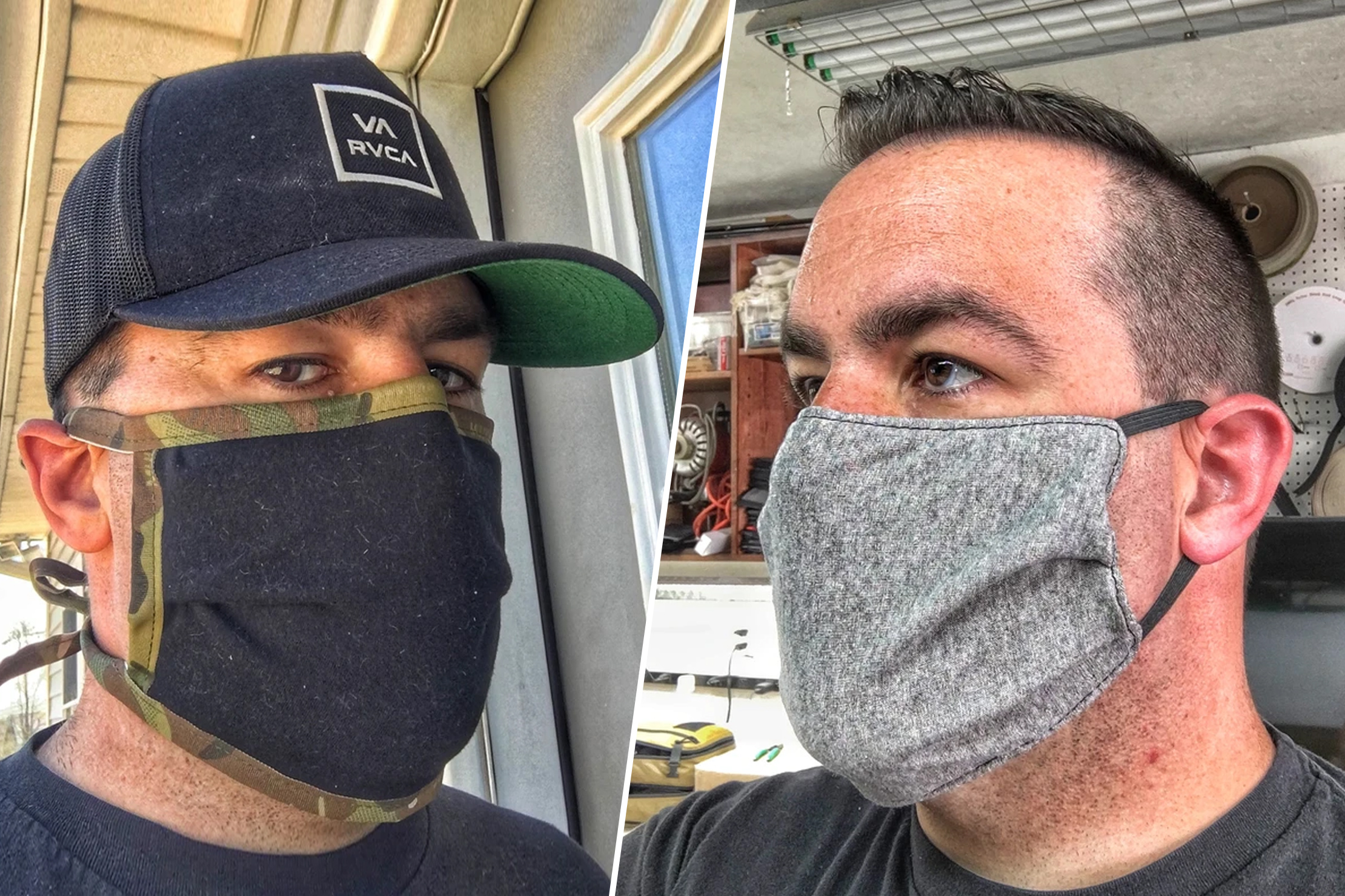Recycled Firefighter Face Masks