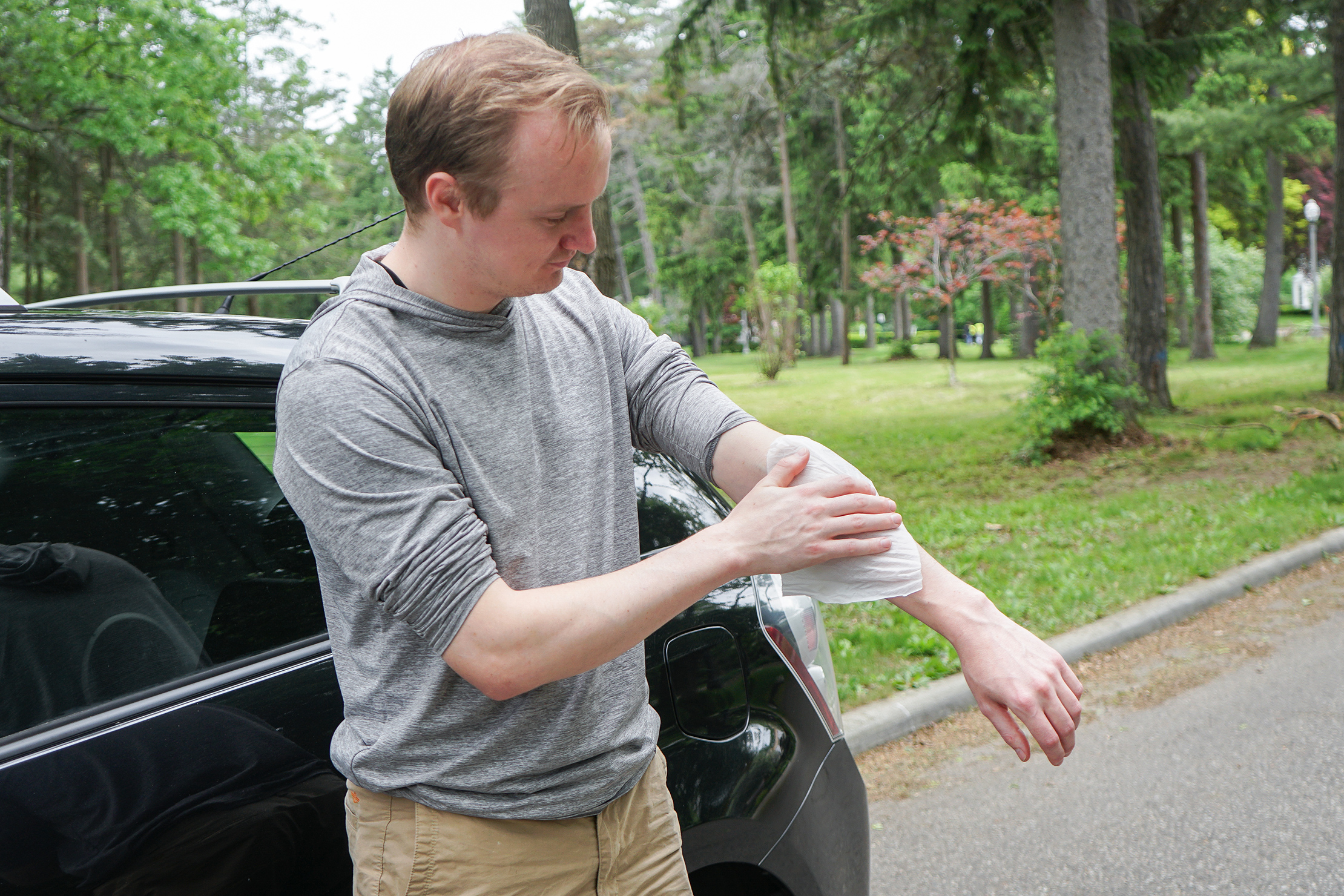 Wiping Arm Down With A Wipe Road Trip Guide