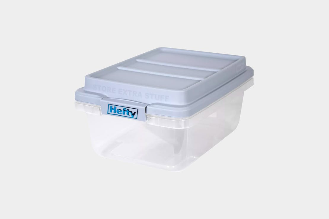 Hefty 18qt Plastic Storage Bin with Gray HI-RISE Stackable Lid
