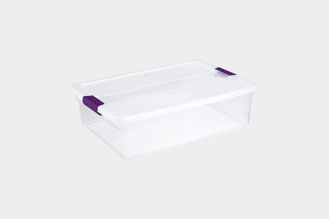 Sterilite 32qt Clear View Storage Bin with Latch
