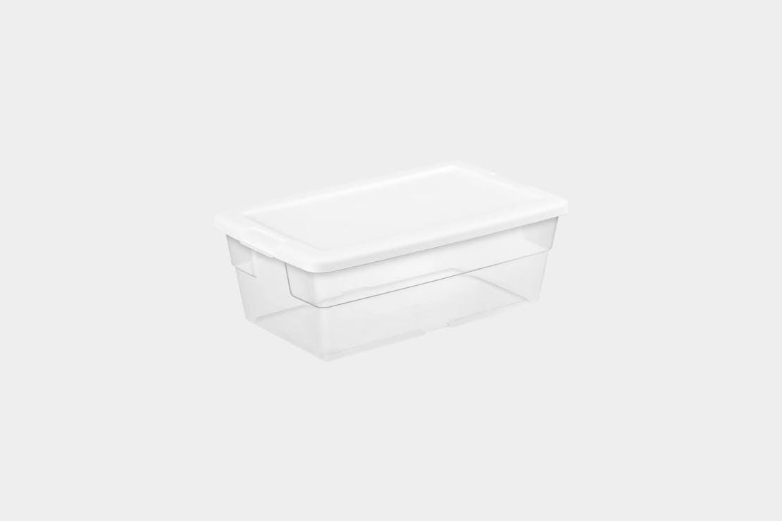 Sterilite 6qt Clear Storage Box White Lid