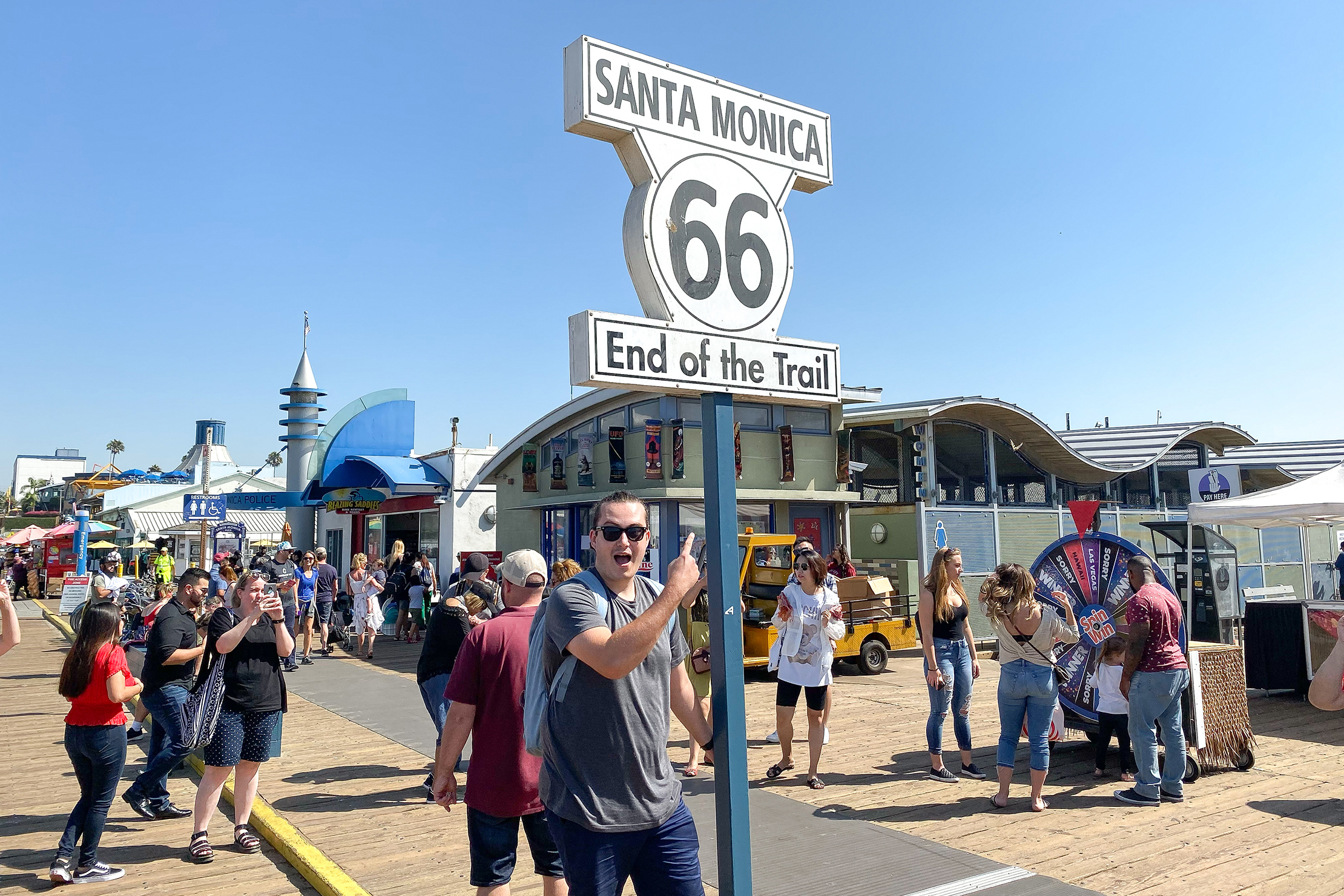 Visiting The Santa Monica Route 66 Sign