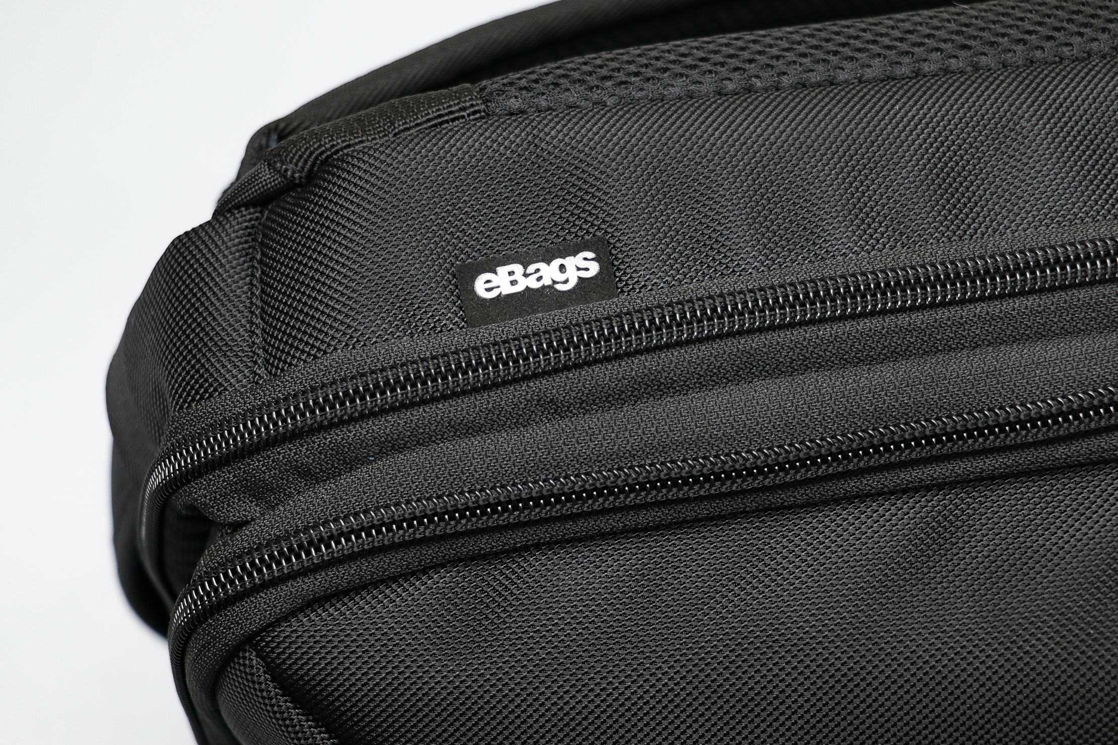 eBags Pro Slim Laptop Backpack Material and Logo