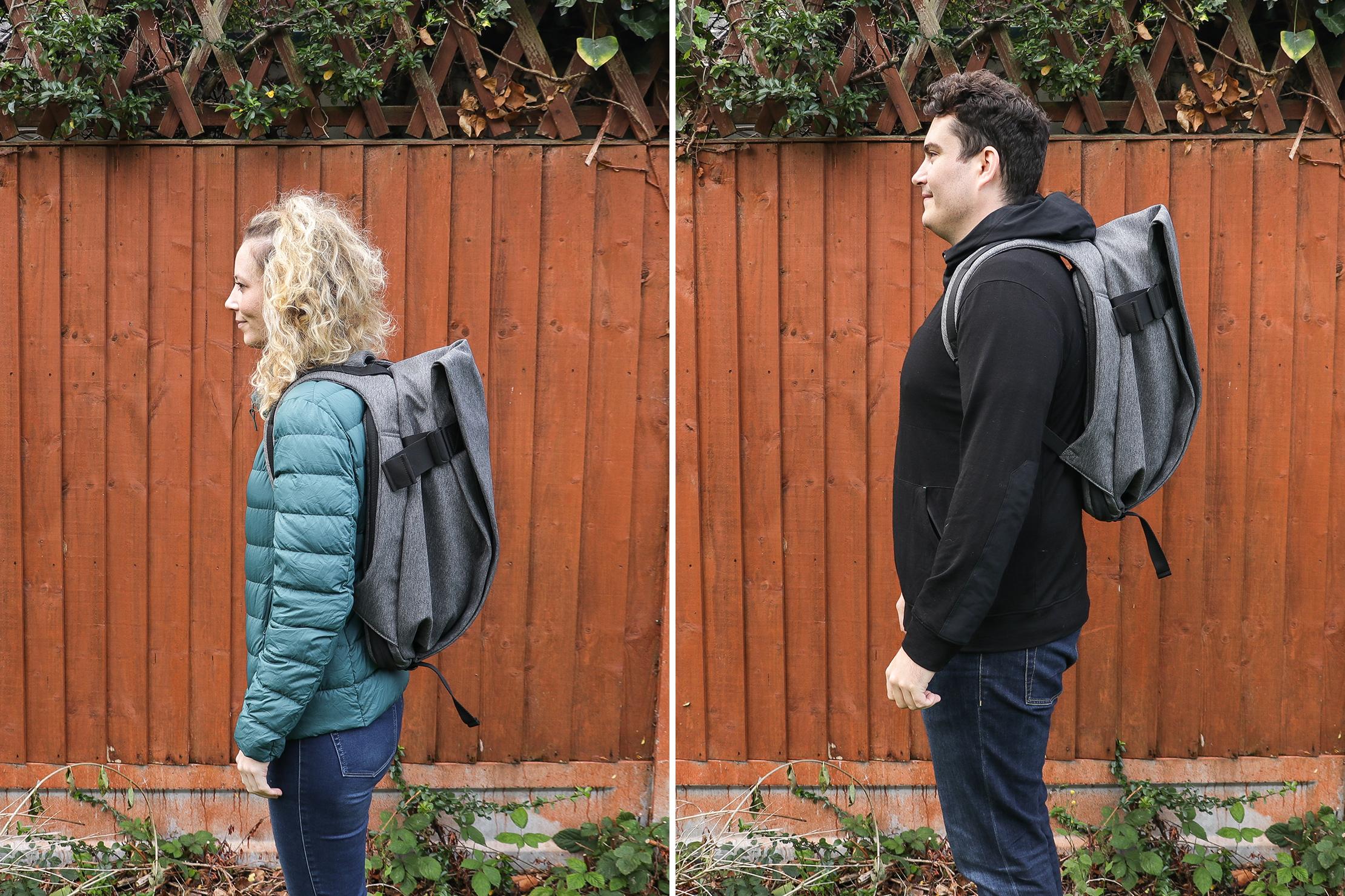 "Left: Rebecca, Height: 5'7"" (170 cm), Torso: 16"" (41 cm) | Right: Nathan Coverdale, Height: 6'4"" (193 cm), Torso: 19""(48 cm)"