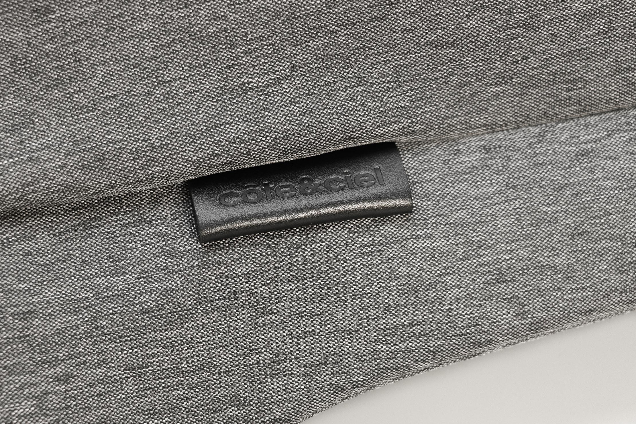 Cote&Ciel Isar M EcoYarn Grey Material and Logo