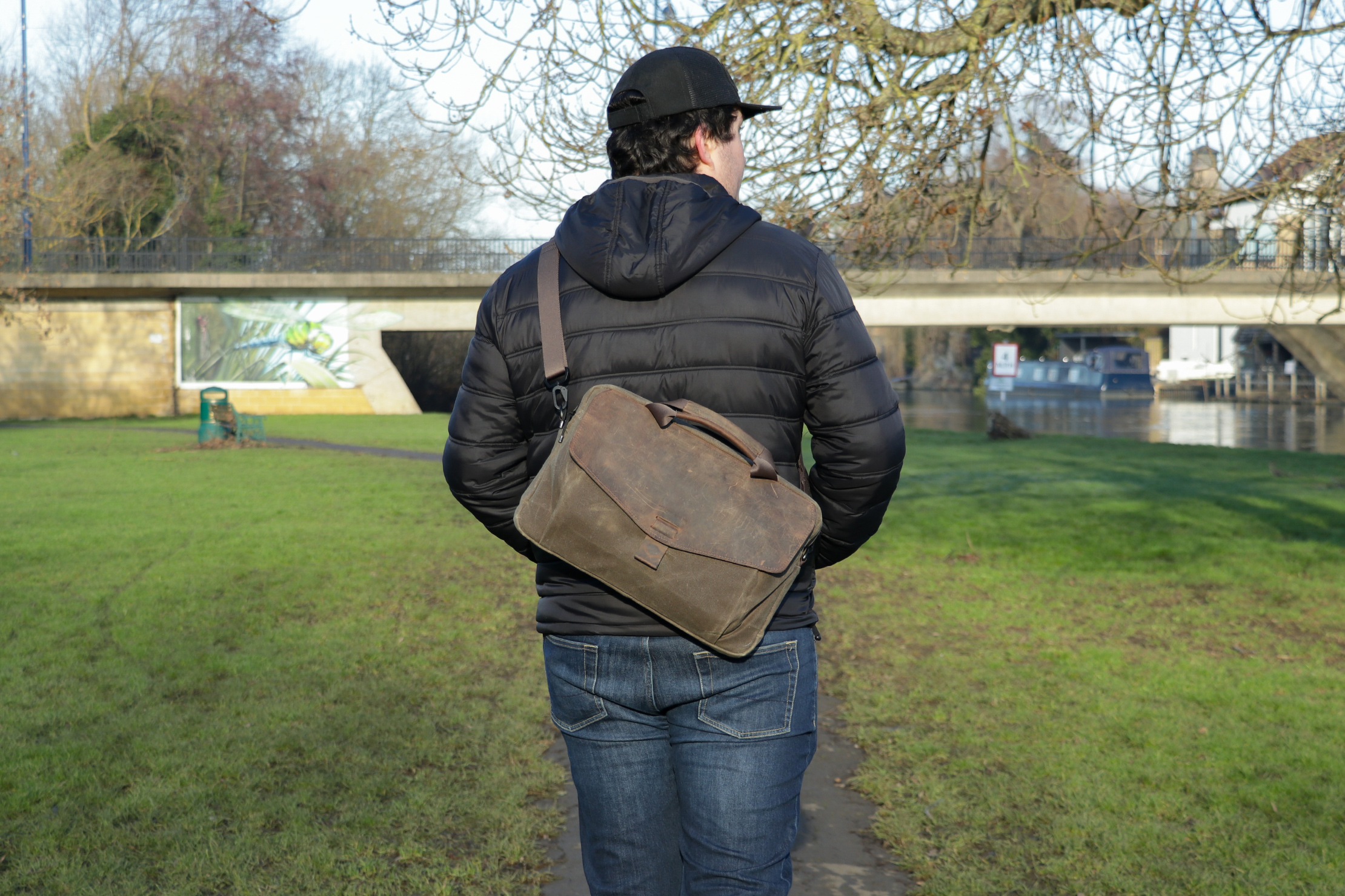 WaterField Designs Outback Duo Laptop Brief | Maybe we'll break out the leather boots as well
