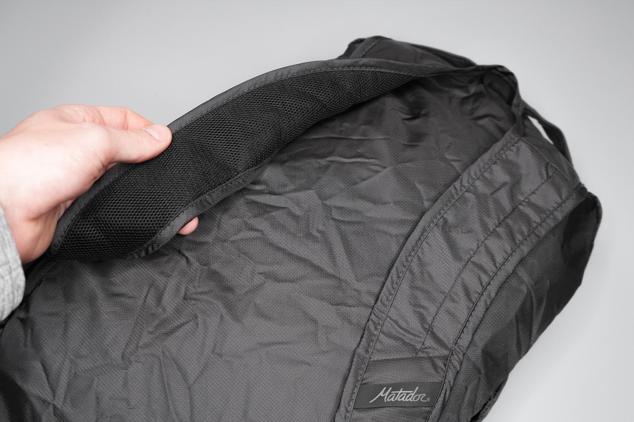 Matador On-Grid Packable Backpack Shoulder Straps and Back Panel