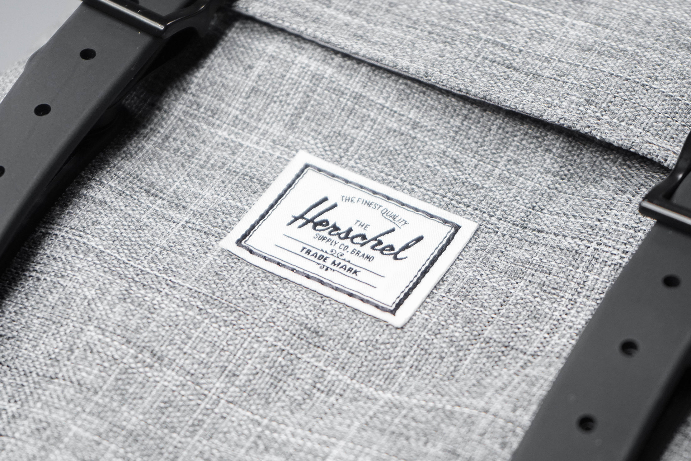 Herschel Supply Co. Little America Backpack Material and Logo