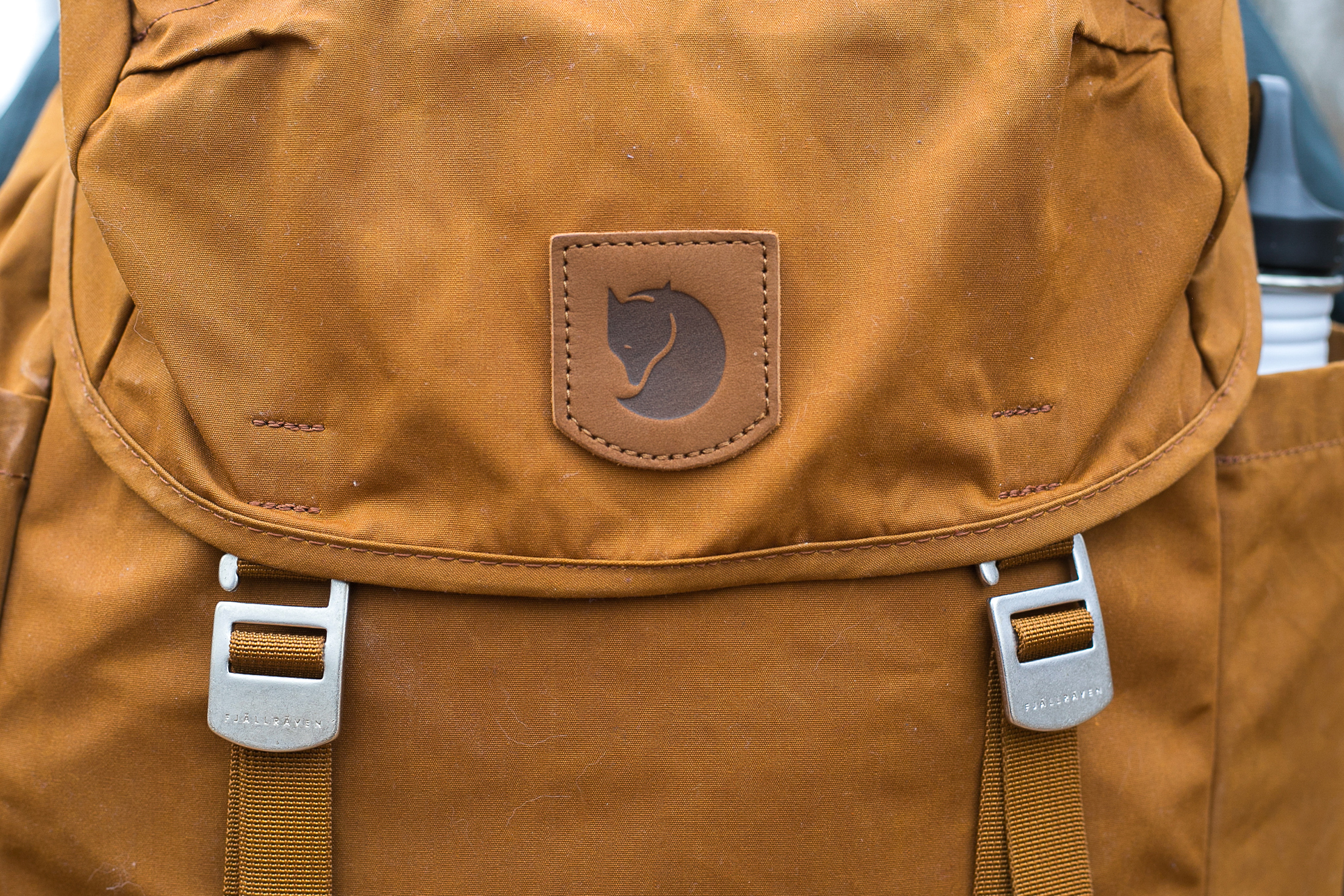 Fjallraven Greenland Top Backpack | Close Up of Logo