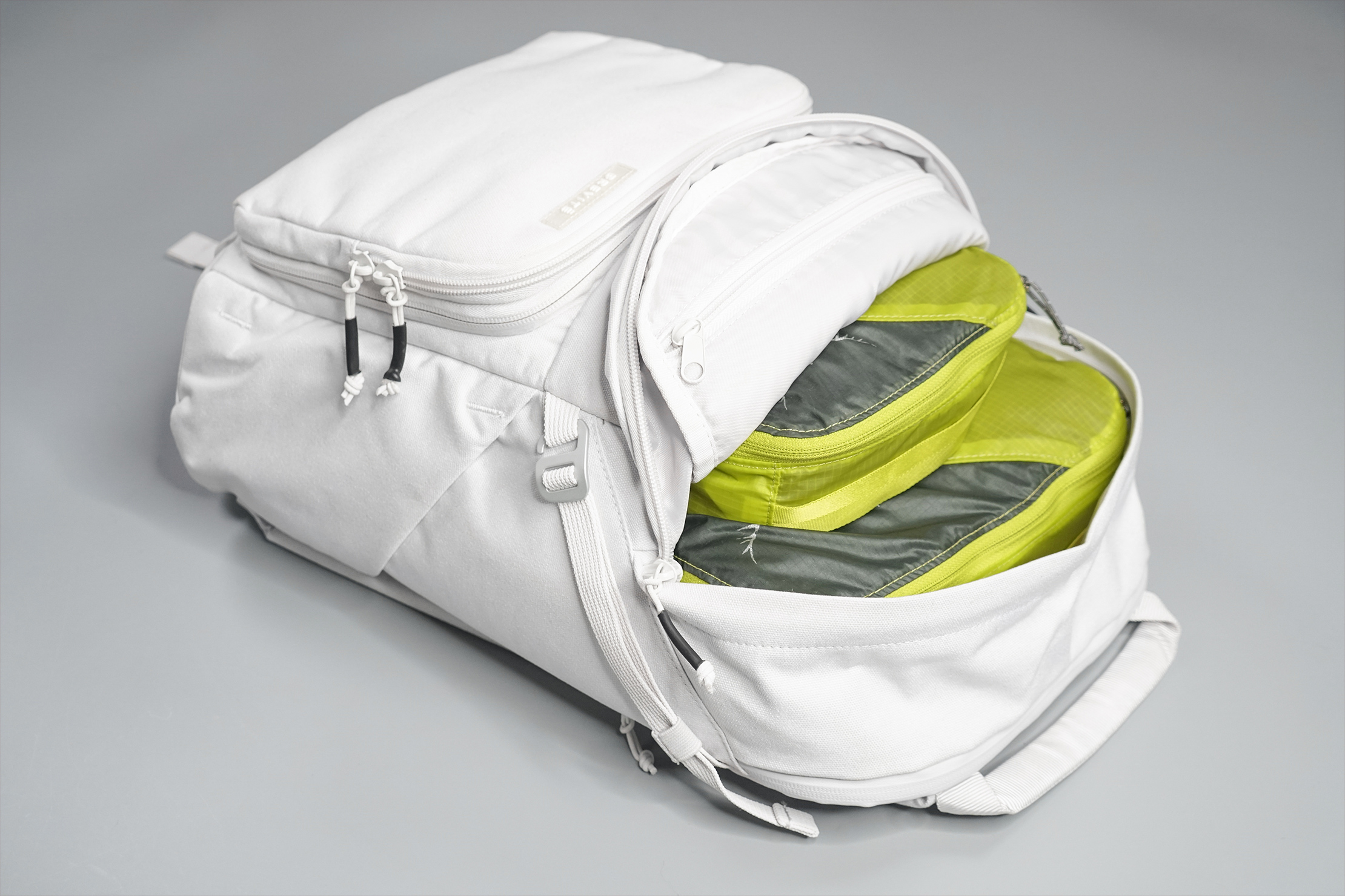 Brevitē Jumper Photo Backpack Main Compartment Fully Packed