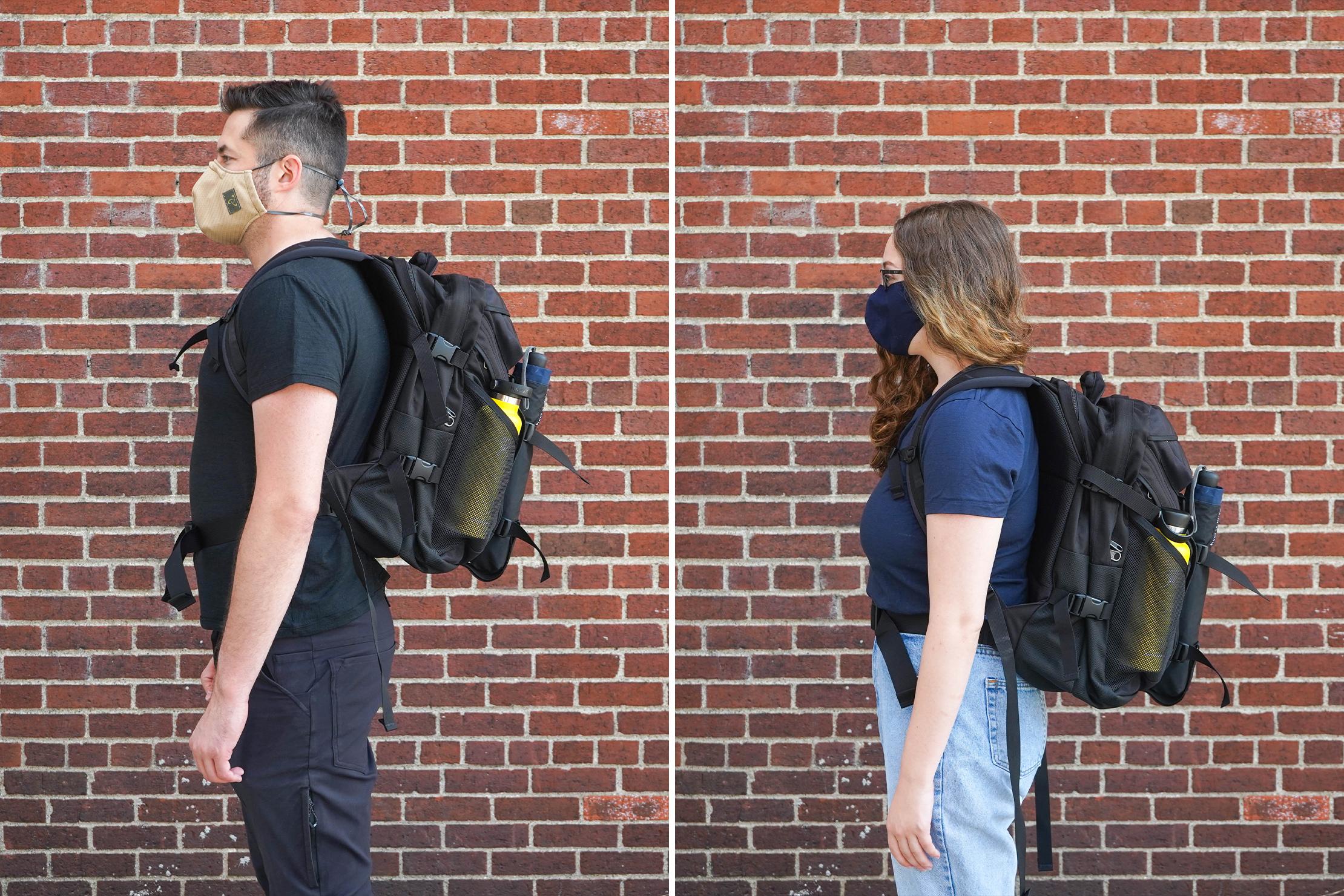 "Left: Tom, Height: 6'2"" (188 cm), Torso: 19.25"" (49 cm) | Right: Riley, Height: 5'4"" (162 cm), Torso: 16.5 in (42 cm)"