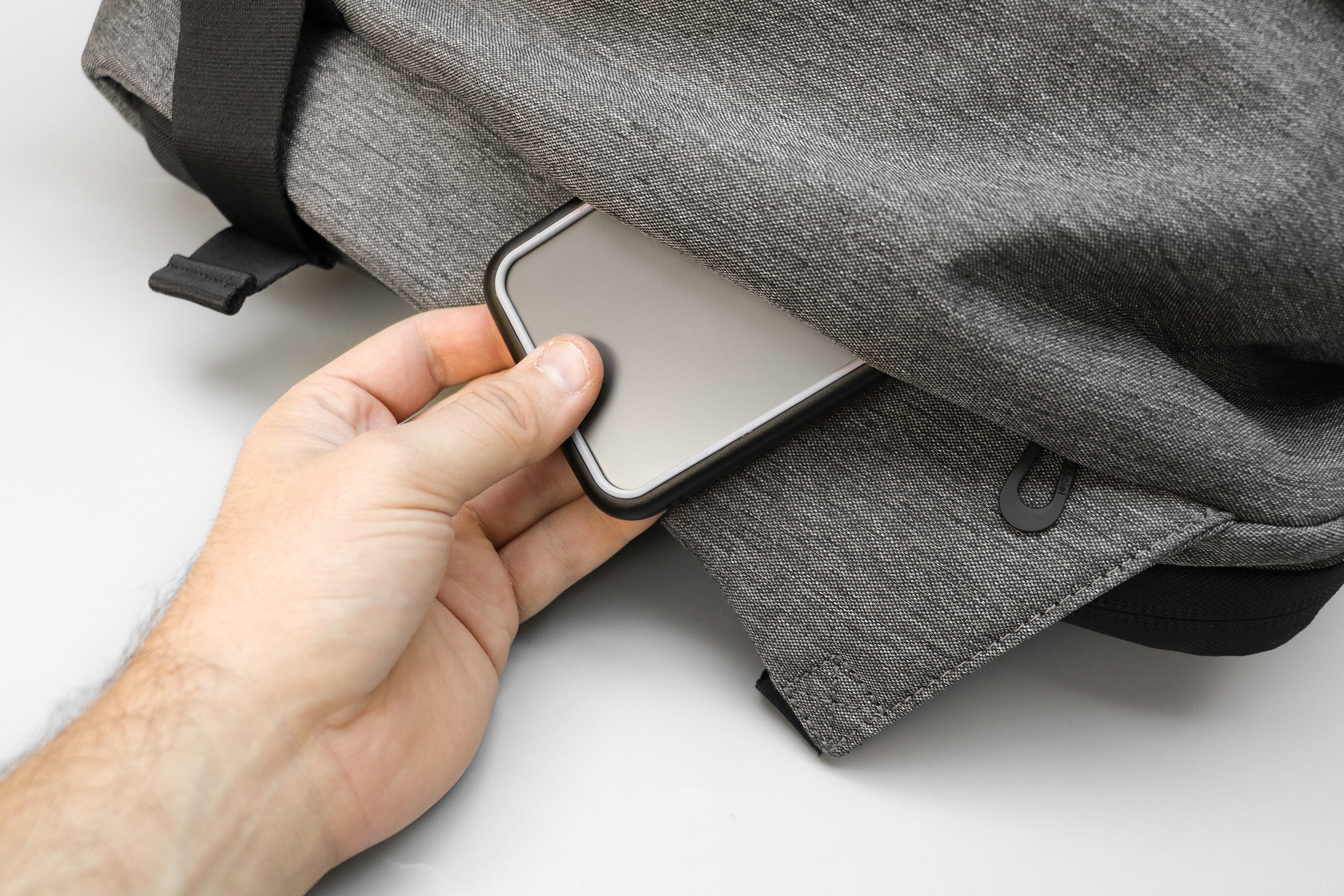 Cote&Ciel Isar M EcoYarn Grey Hidden Pocket