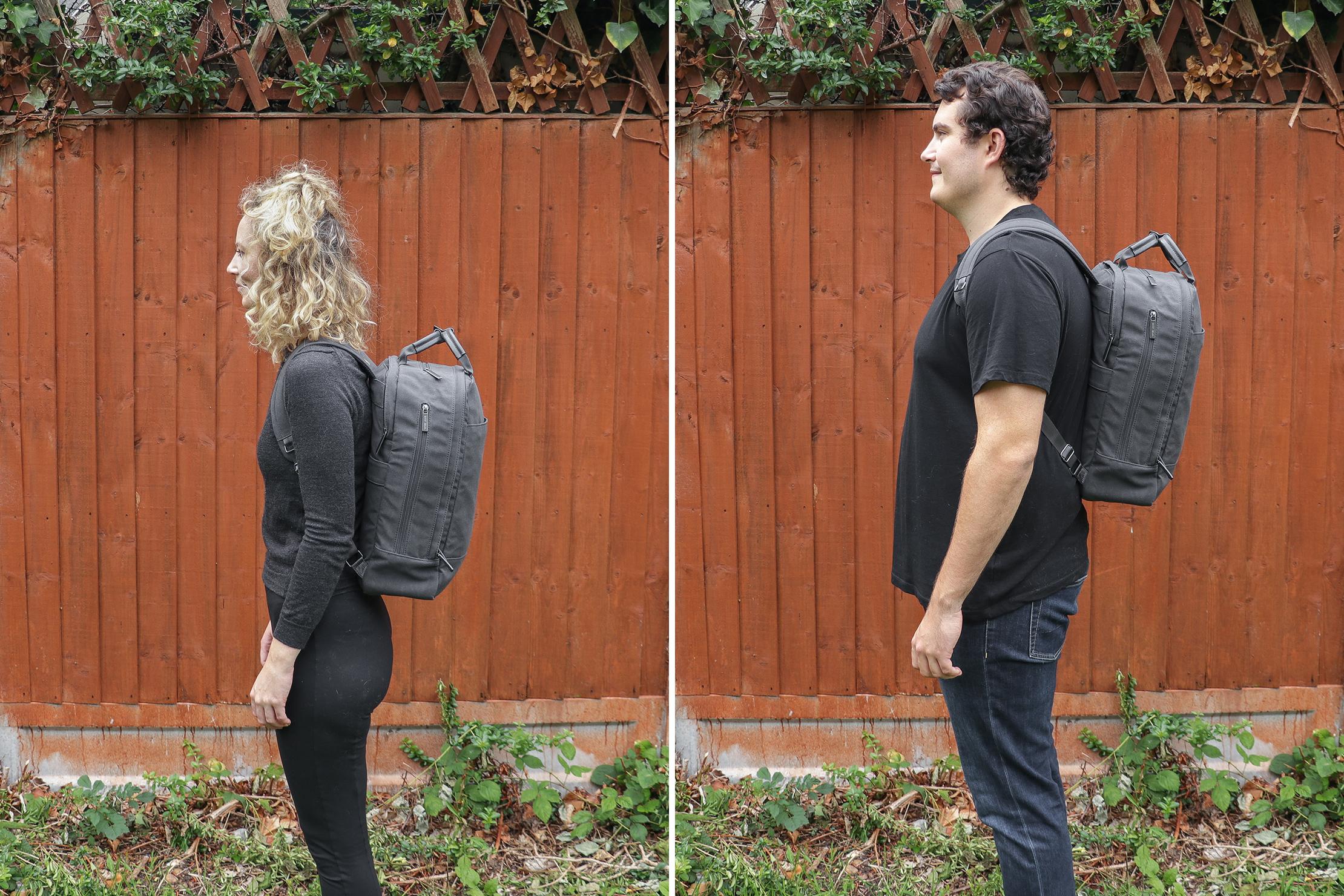 "Left: Rebecca, Height: 5'7"" (170 cm), Torso: 16"" (41 cm) | Right: Nathan, Height: 6'4"" (193 cm), Torso: 19"" (48 cm)"