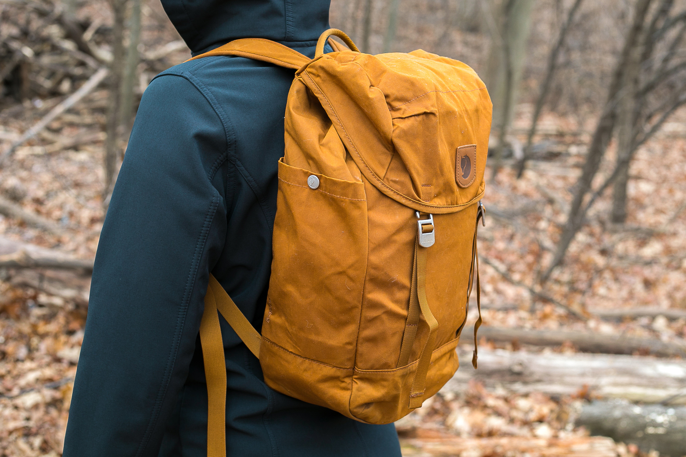 Fjallraven Greenland Top Backpack | Side View of Backpack