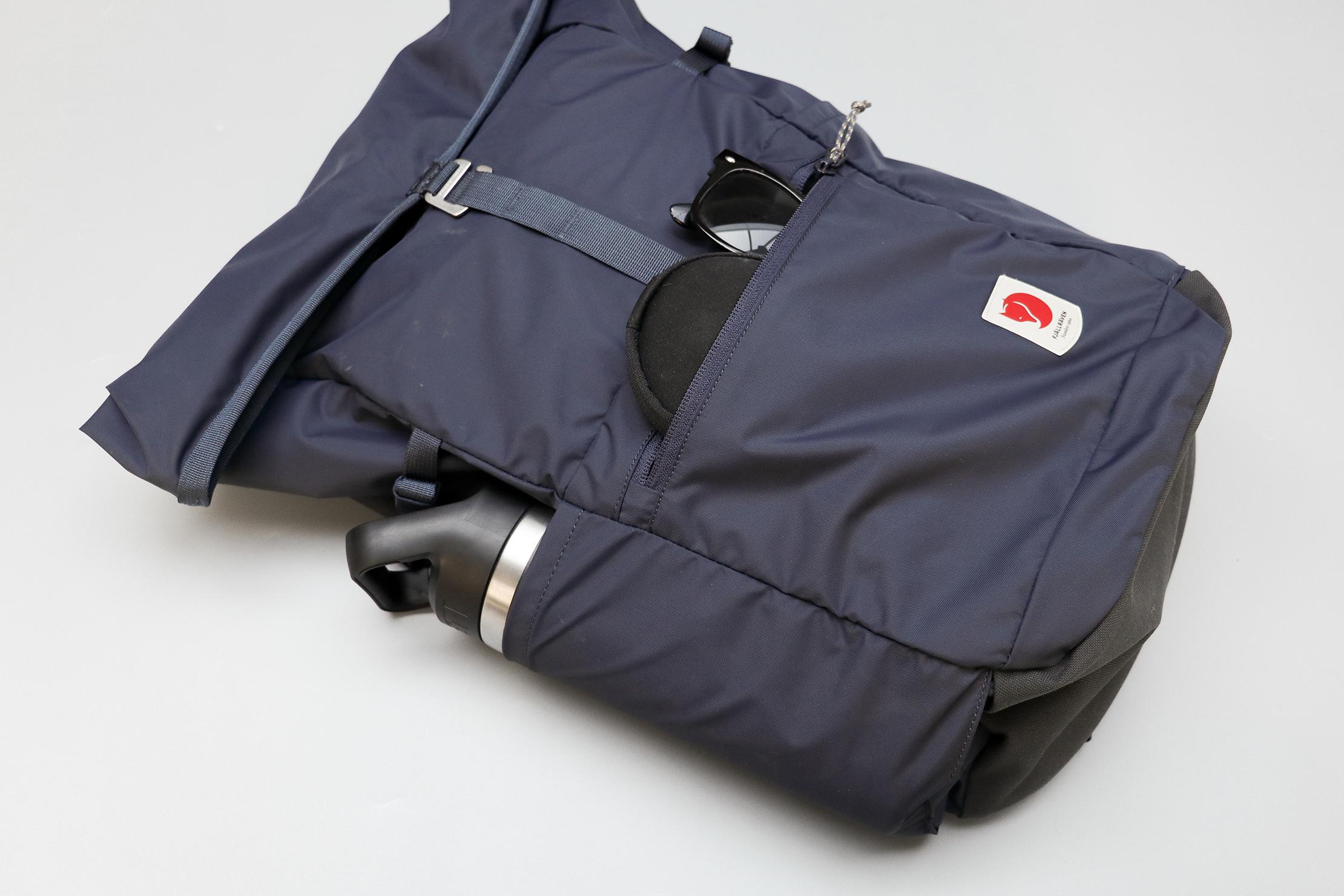 Fjallraven High Coast Foldsack 24 Water Bottle and Front Pocket