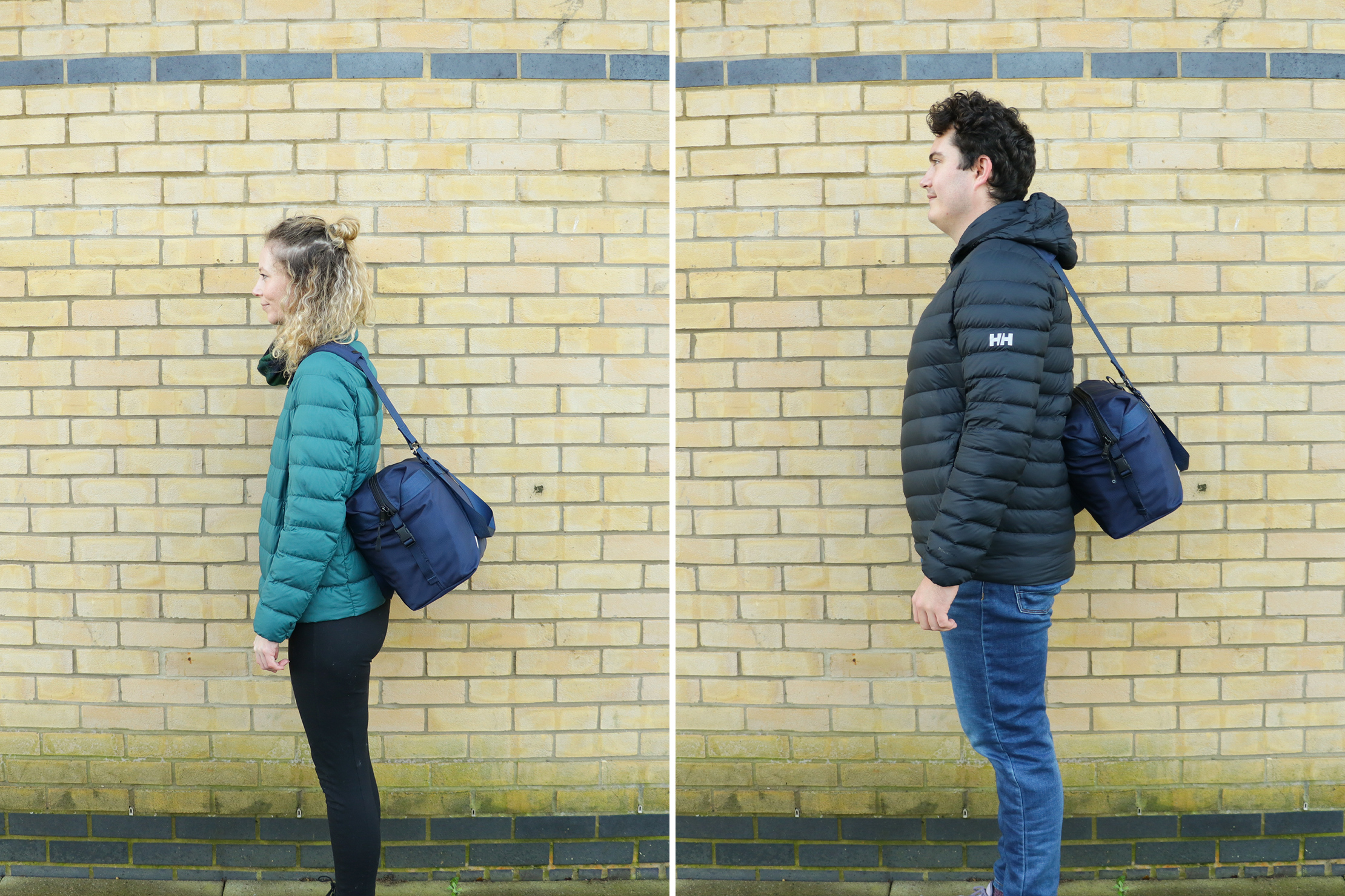 "Left: Rebecca Coates, Height, 5'7"" (170 cm), Torso: 16"" (41 cm)   Right: Nathan Coverdale, Height, 6'4"" (193 cm), Torso: 19"" (48 cm)"