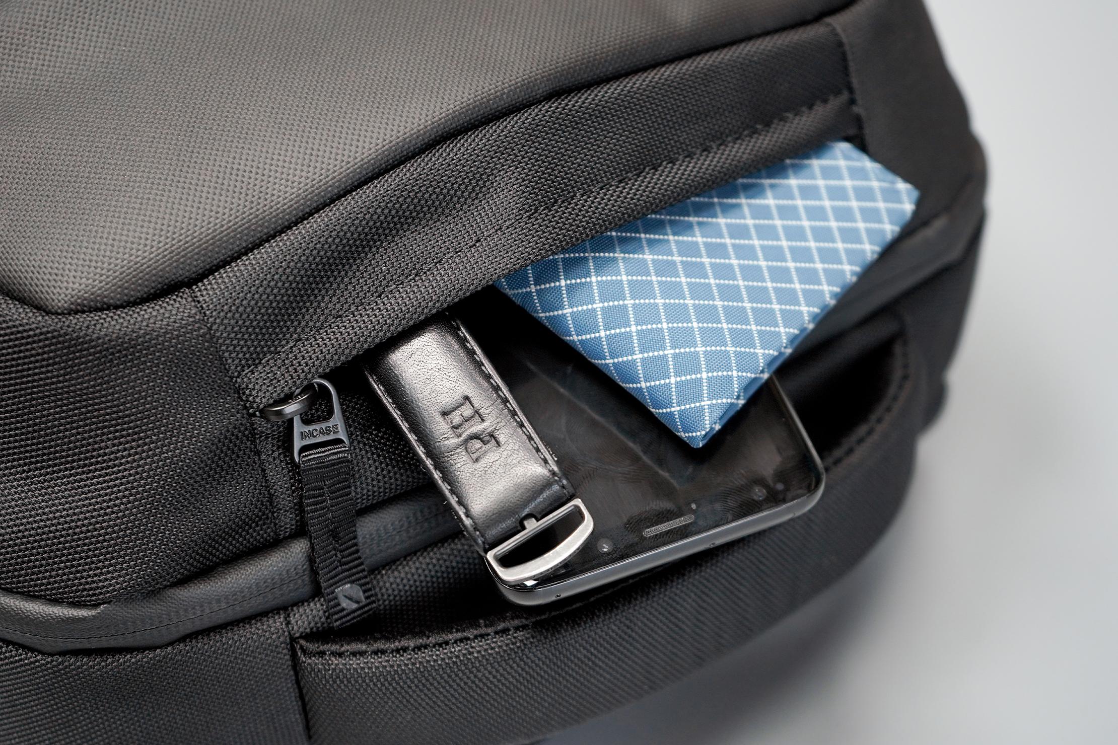 Incase ICON Lite Triple Black Backpack Top Pocket