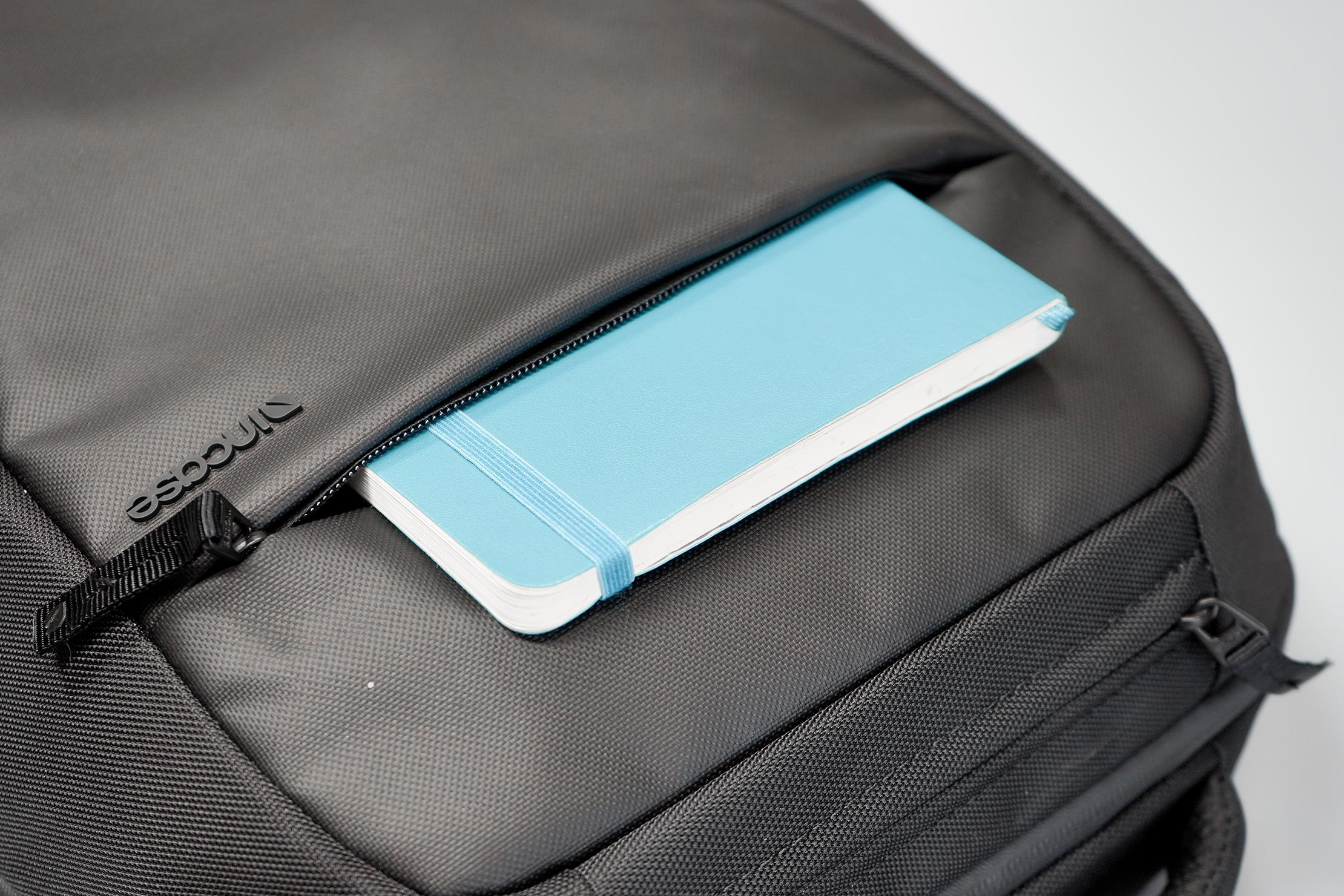 Incase ICON Lite Triple Black Backpack Front Pocket