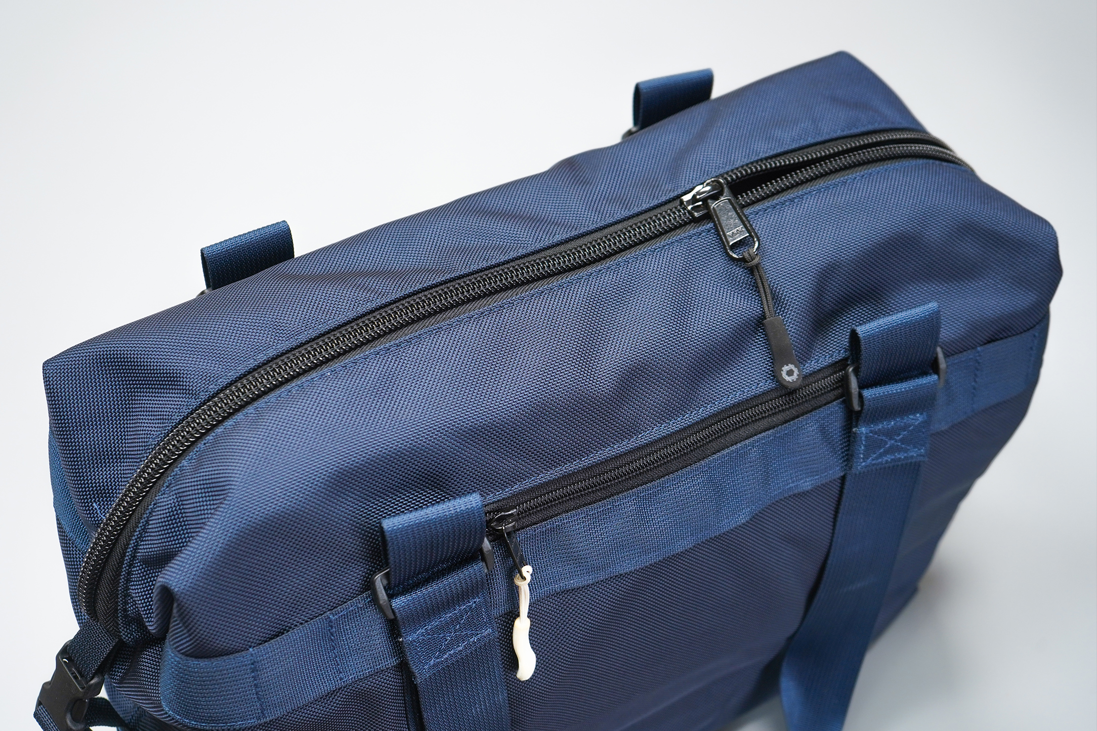 DSPTCH Utility Tote | Attach the shoulder strap to any of these four mounting points