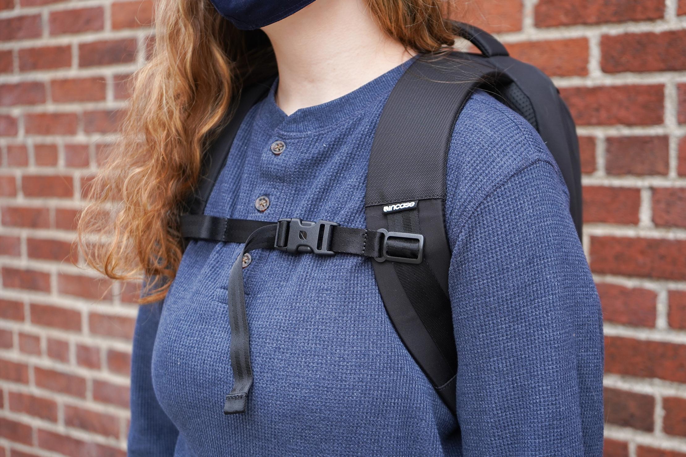 Incase ICON Lite Triple Black Backpack Shoulder Straps and Sternum Strap