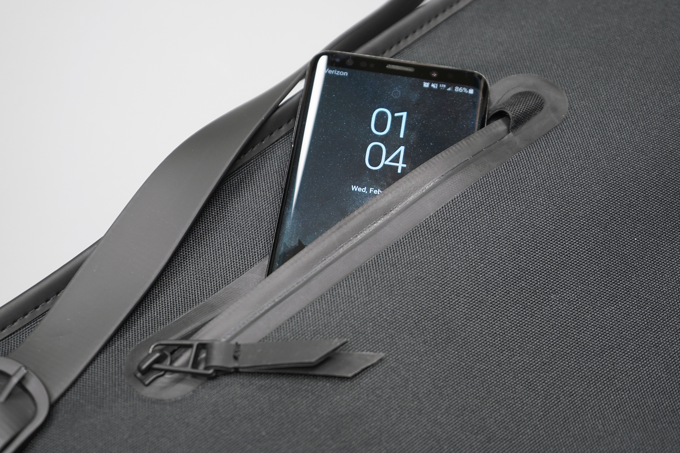 Rains Backpack | Keep things in here flat unless you have an itch at roughly this spot on your back