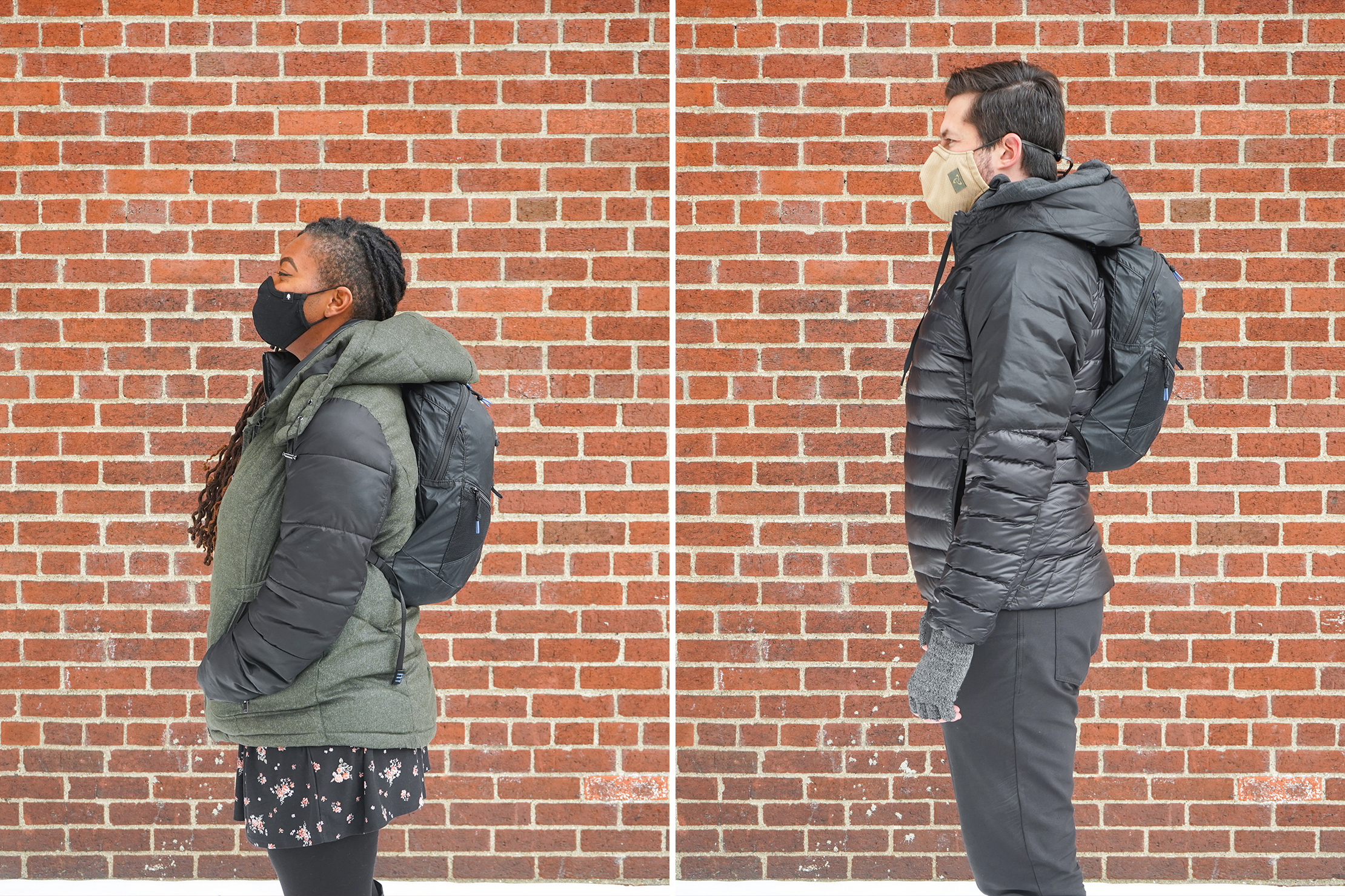 Sandqvist Erland Packable Ziptop Backpack | Male/Female Fit Photos