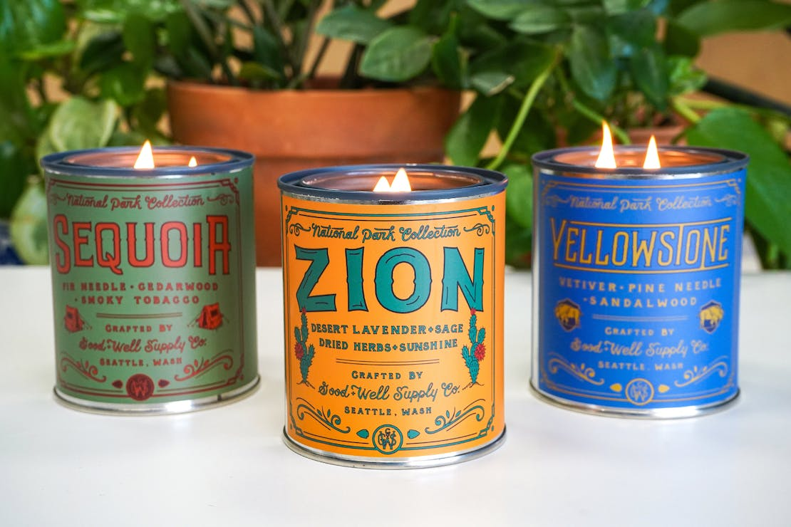 Good + Well Supply Co. National Park Candles