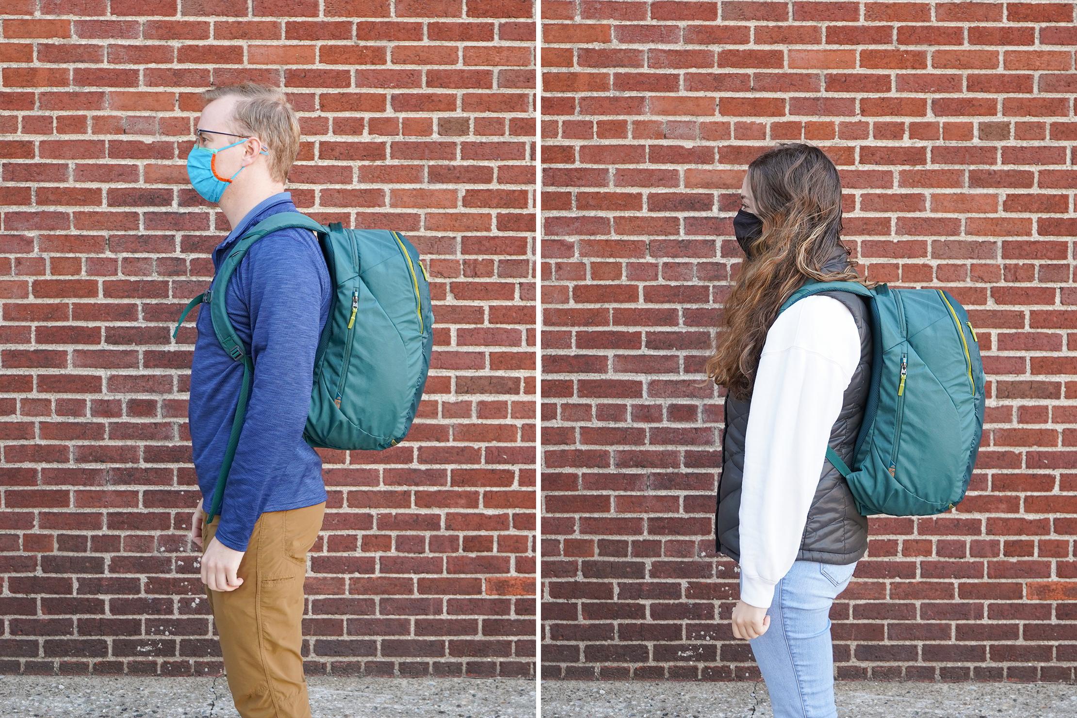 "Left: Mark, Height, 5'10"" (178 cm), Torso: 19"" (48cm)   Right: Riley, Height, 5'4"" (162 cm), Torso: 16.5"" (42 cm)"
