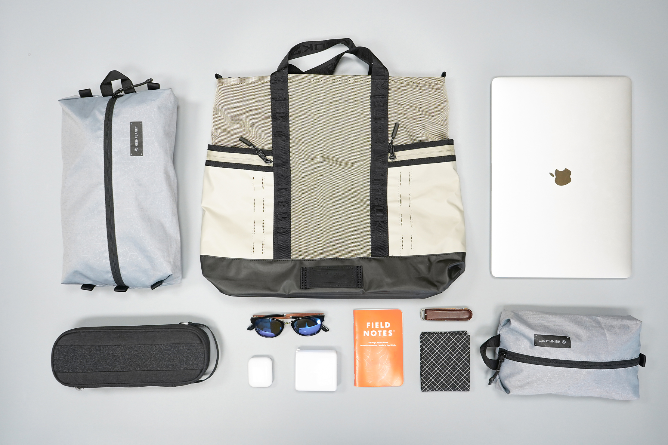 Timbuk2 Tech Tote   Fully-packed load laid out