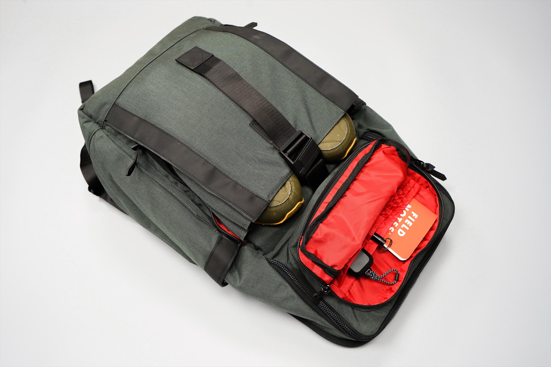 King Kong Apparel PLUS26 Backpack Front Organization