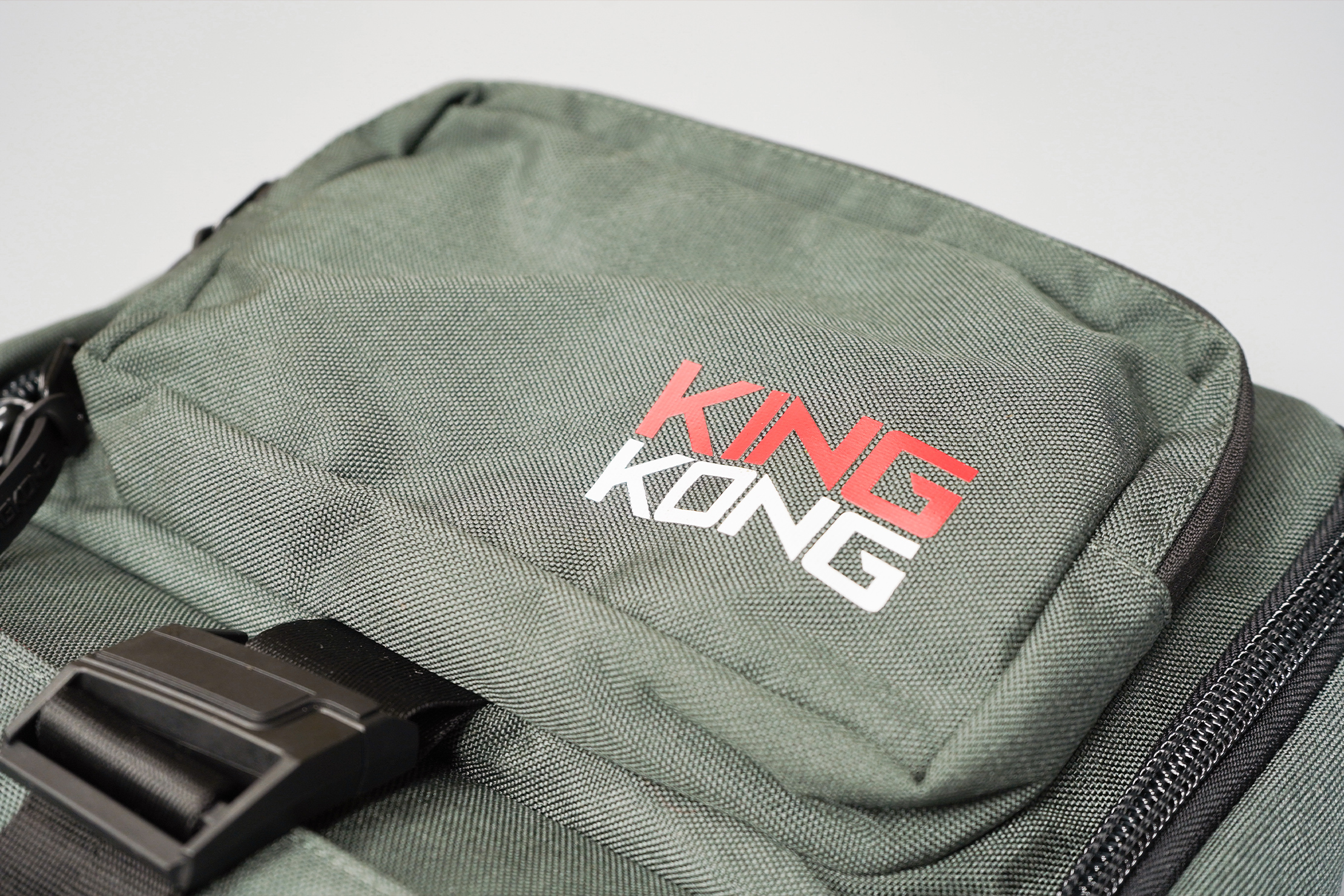 King Kong Apparel PLUS26 Backpack Material and Logo