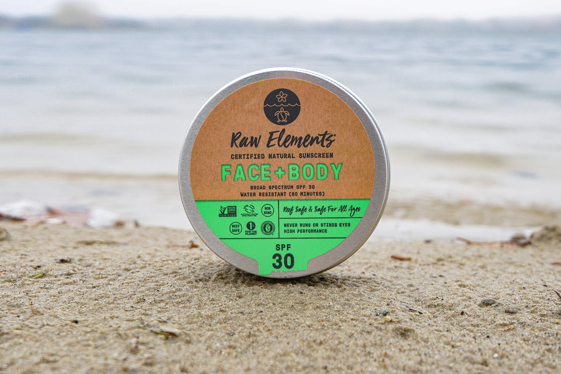 Raw Elements Face + Body Tin SPF 30 Sunscreen