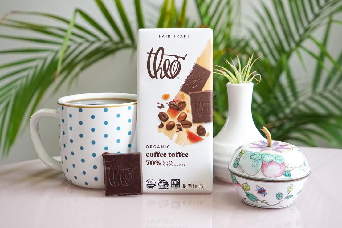 Theo Coffee Toffee 70% Dark Chocolate