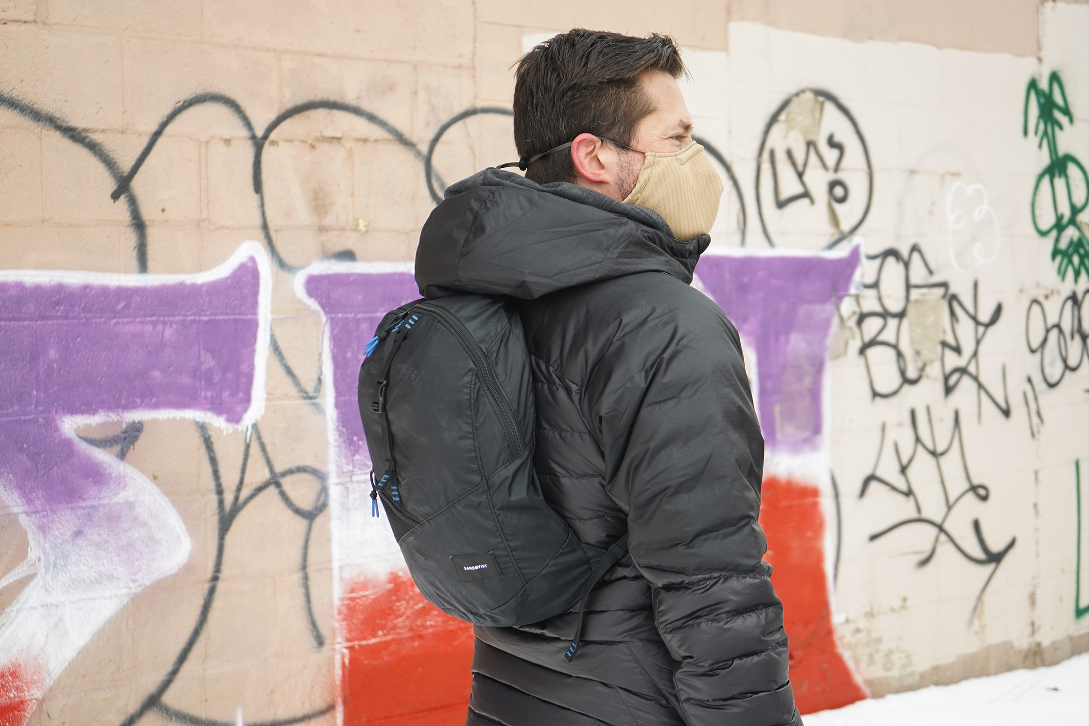 Sandqvist Erland Packable Ziptop Backpack | Carrying the backpack around an exciting new city