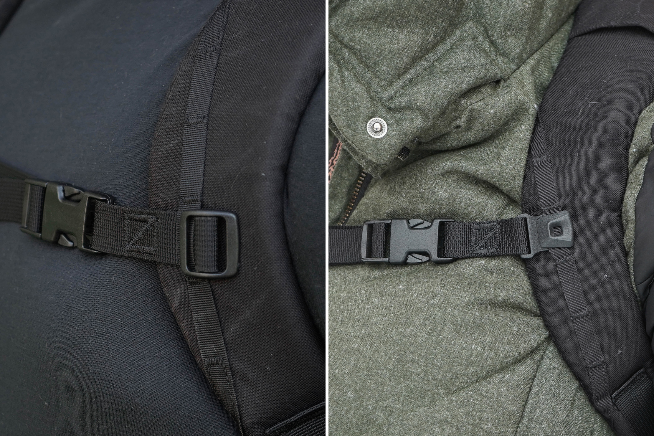 EVERGOODS CHZ22 (left) vs CHZ26 sternum strap (right) comparison