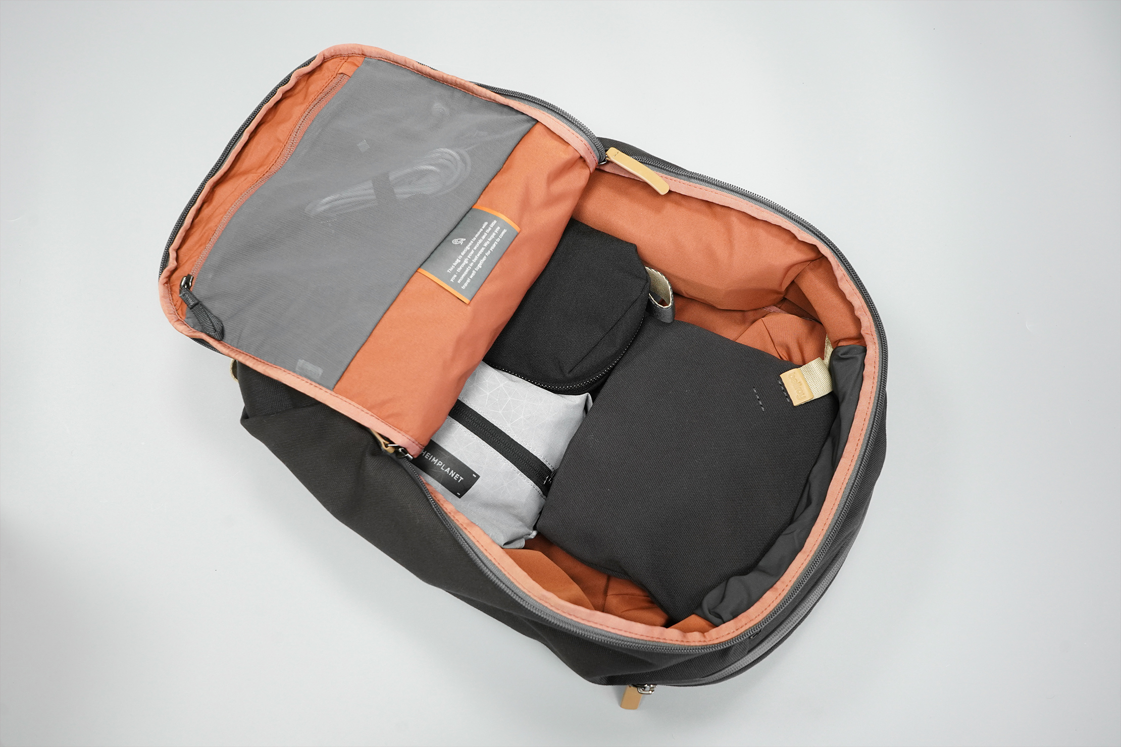 Bellroy Transit Workpack | A clamshell-style opening makes packing easier and visibility excellent