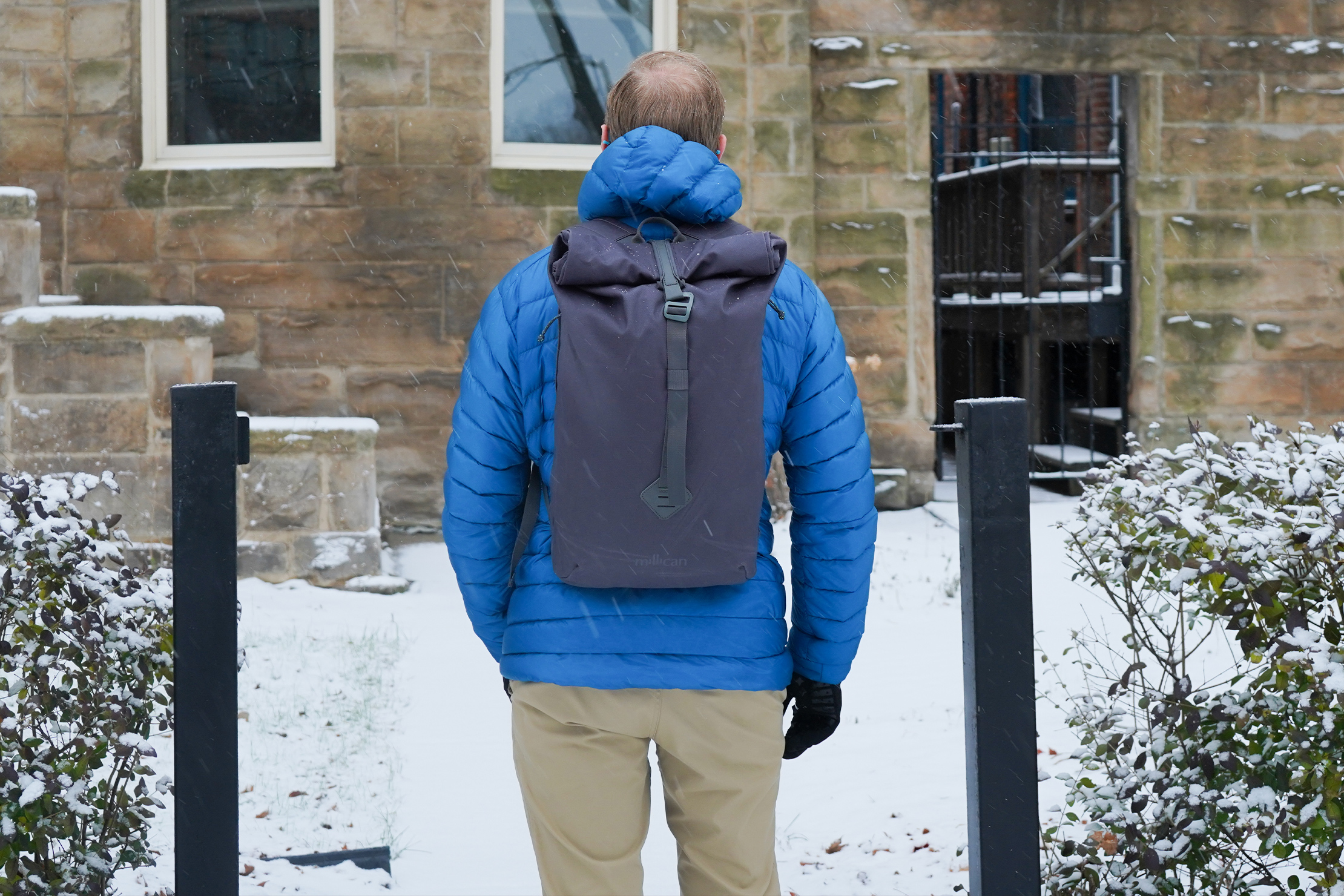 Millican Smith Roll Pack 18L   Carrying a loaded pack