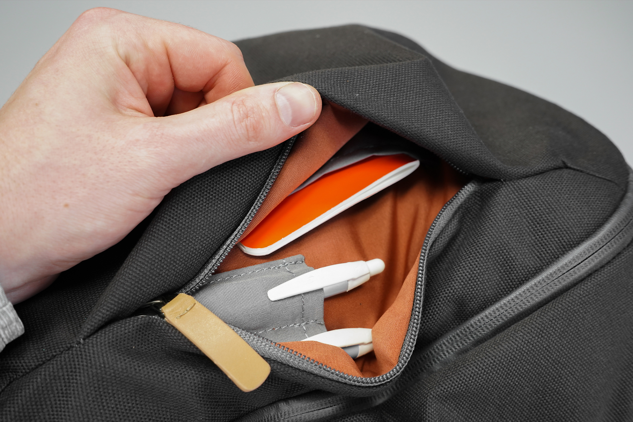 Bellroy Transit Workpack | The front pocket is much bigger inside than it appears