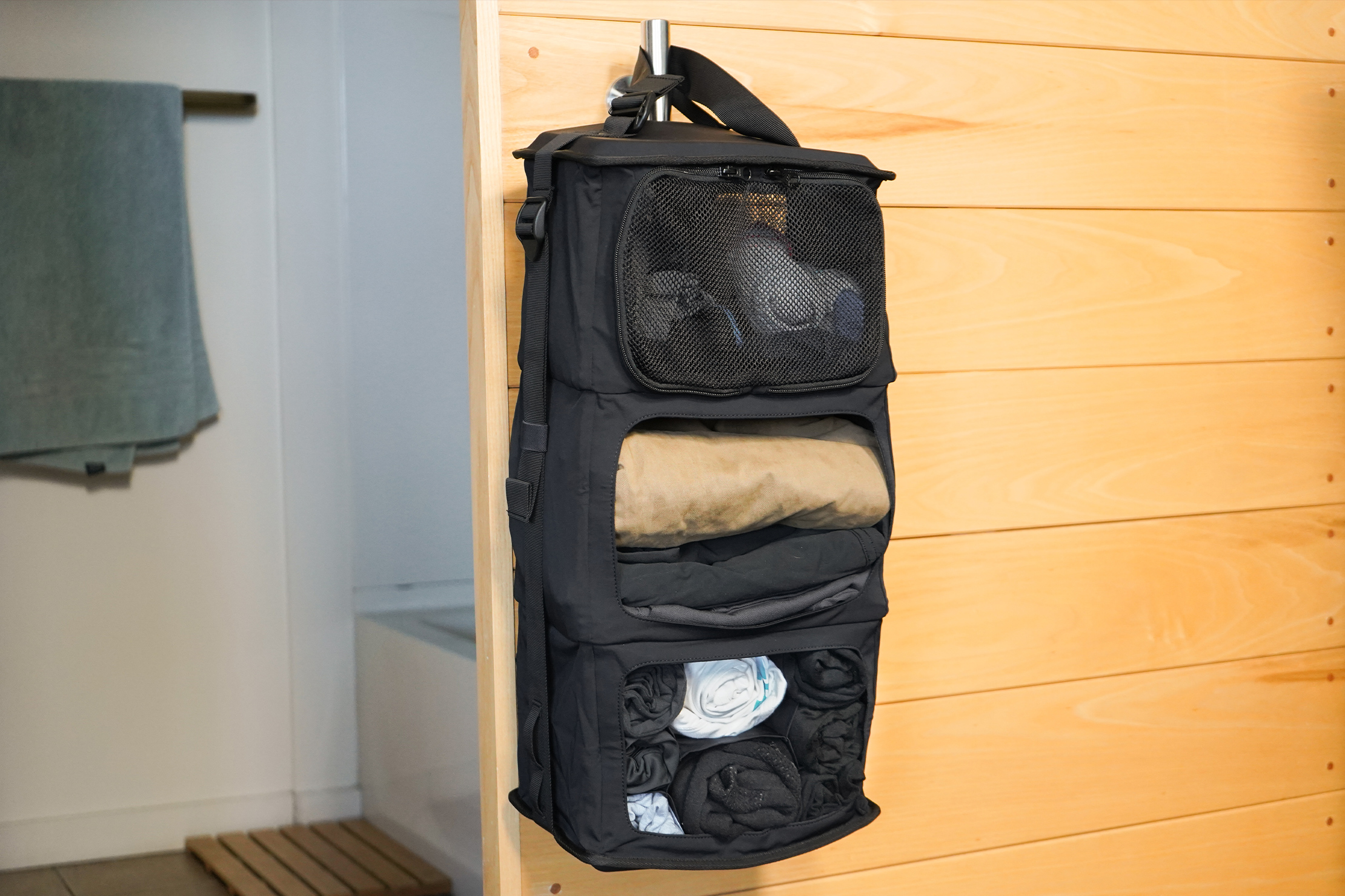 Tropicfeel Shell Travel Backpack | The wardrobe can hang out wherever you do