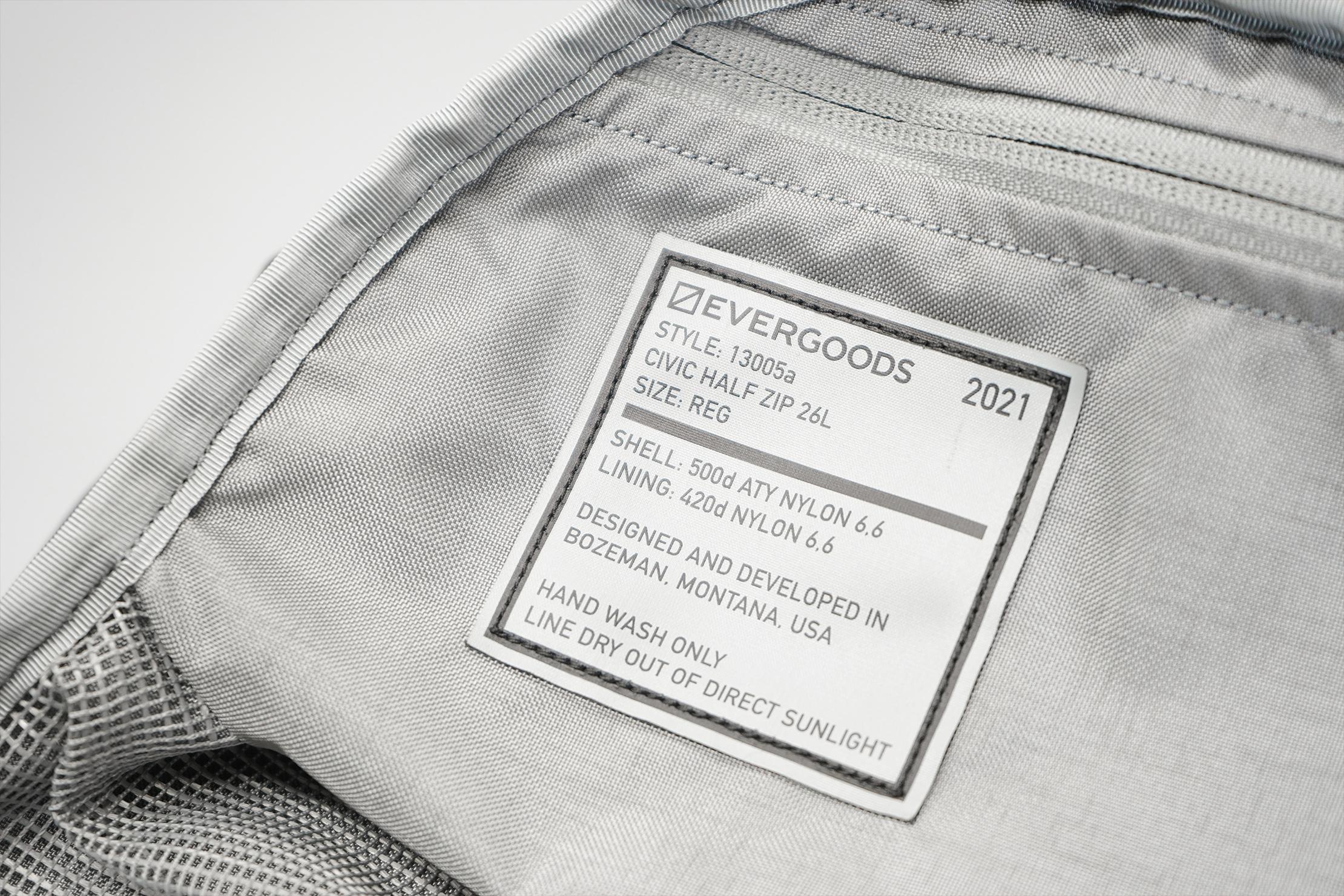 EVERGOODS CHZ26 inside tag