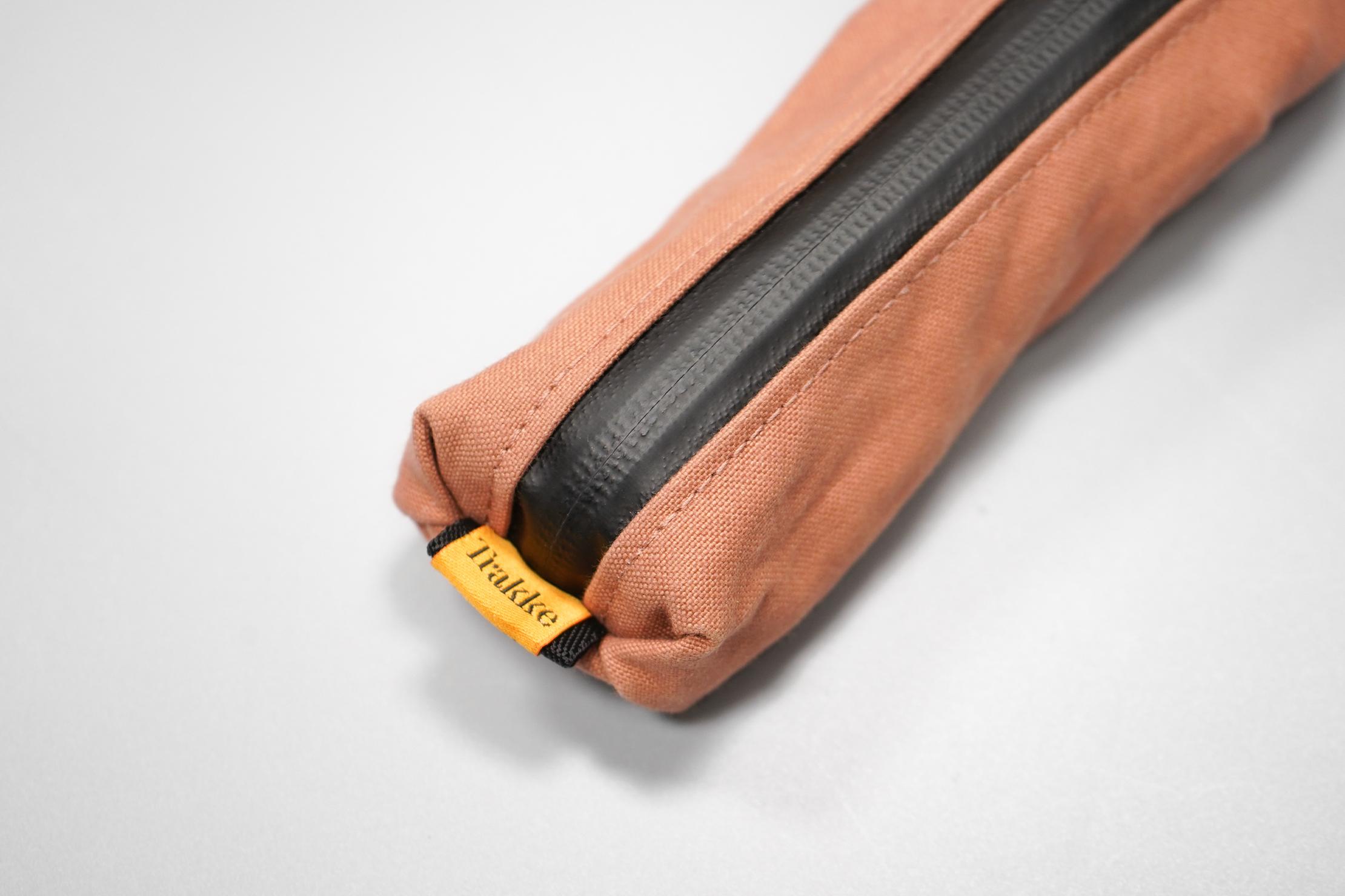 Trakke Pencil Case | The Trakke logo and signature dry-finish waxed canvas