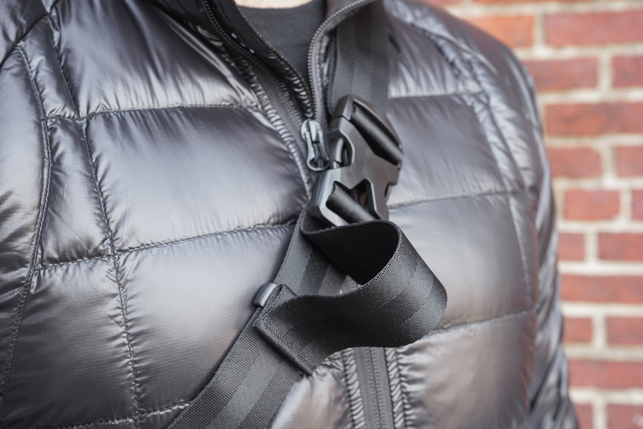 NOMATIC Navigator Sling 1L | The strap's non-removable, but a quick-release buckle removes it from you in a cinch}