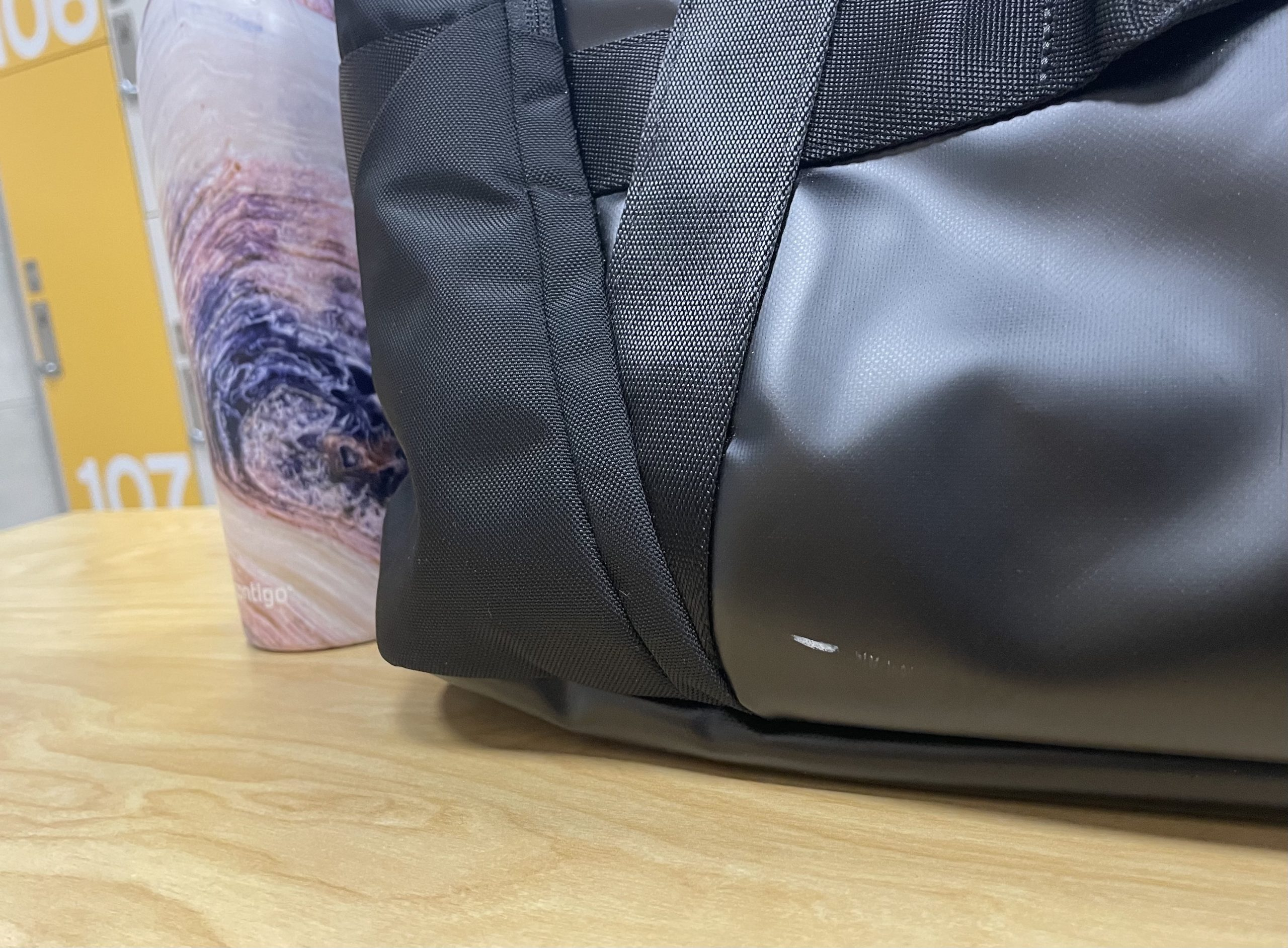 Mysterious Scratch on the lululemon More Miles Duffle