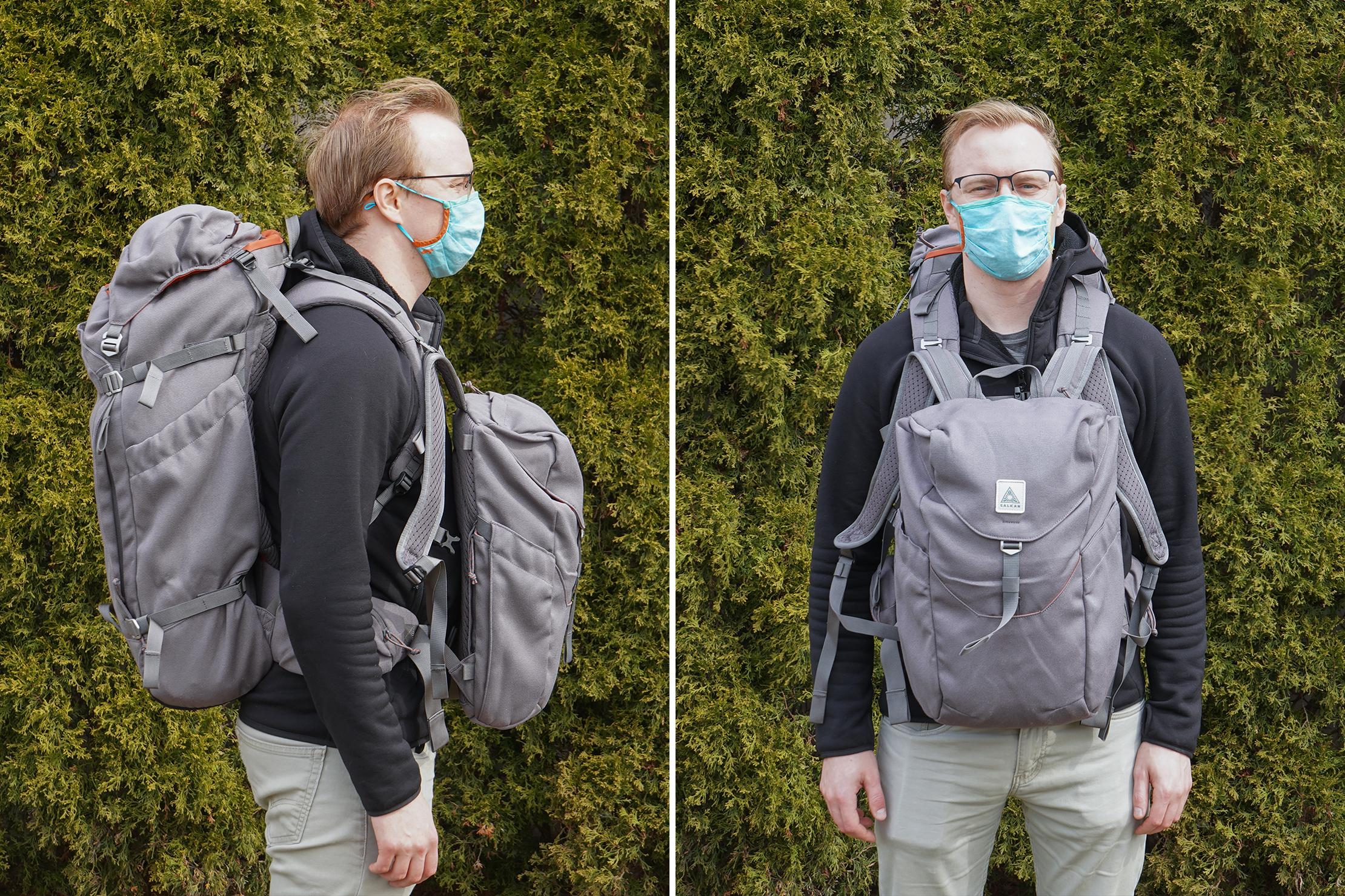 Salkan Backpacker | Carrying both backpacks