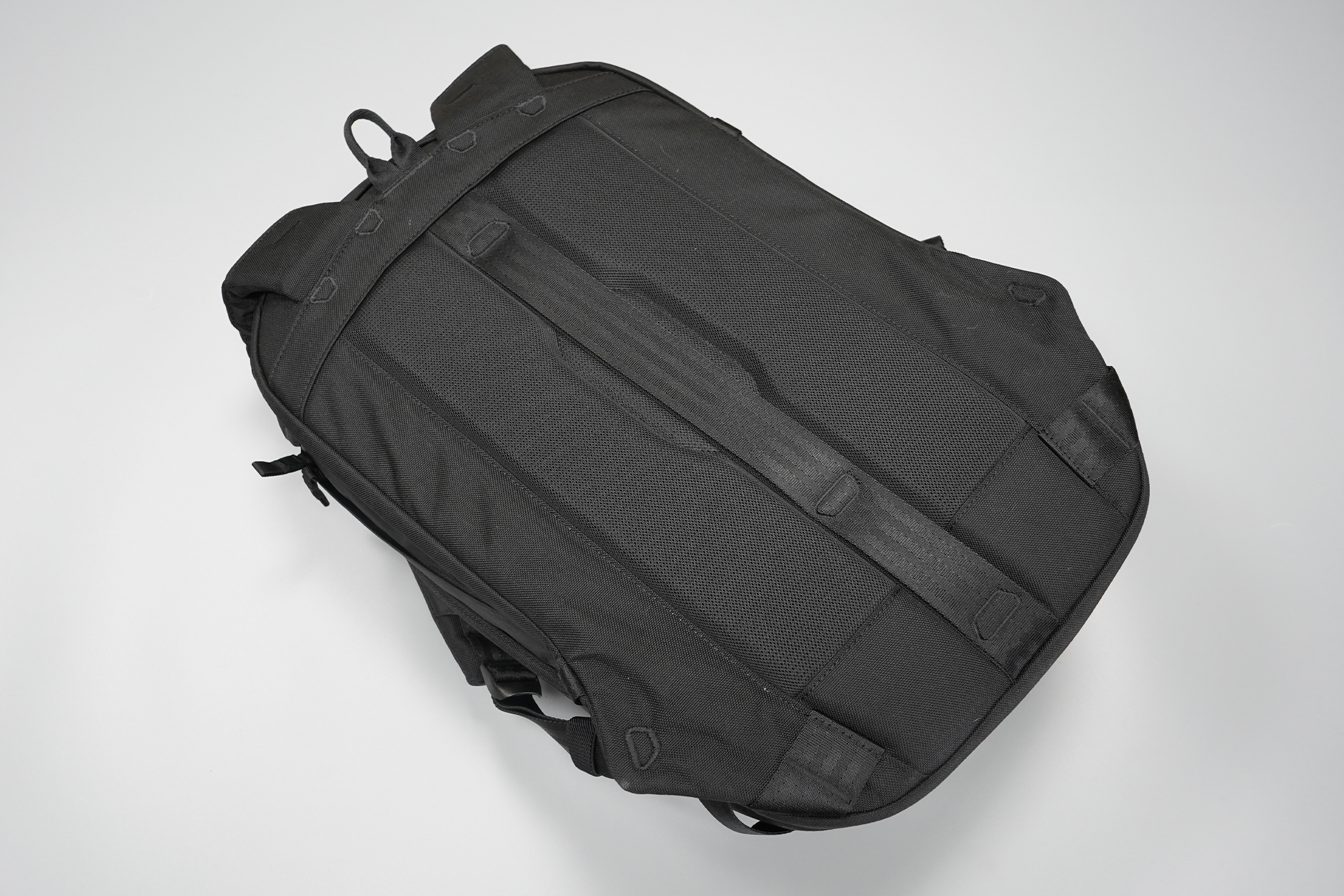 Able Carry Max Backpack | An air channel keeps things cool while housing a luggage pass-through
