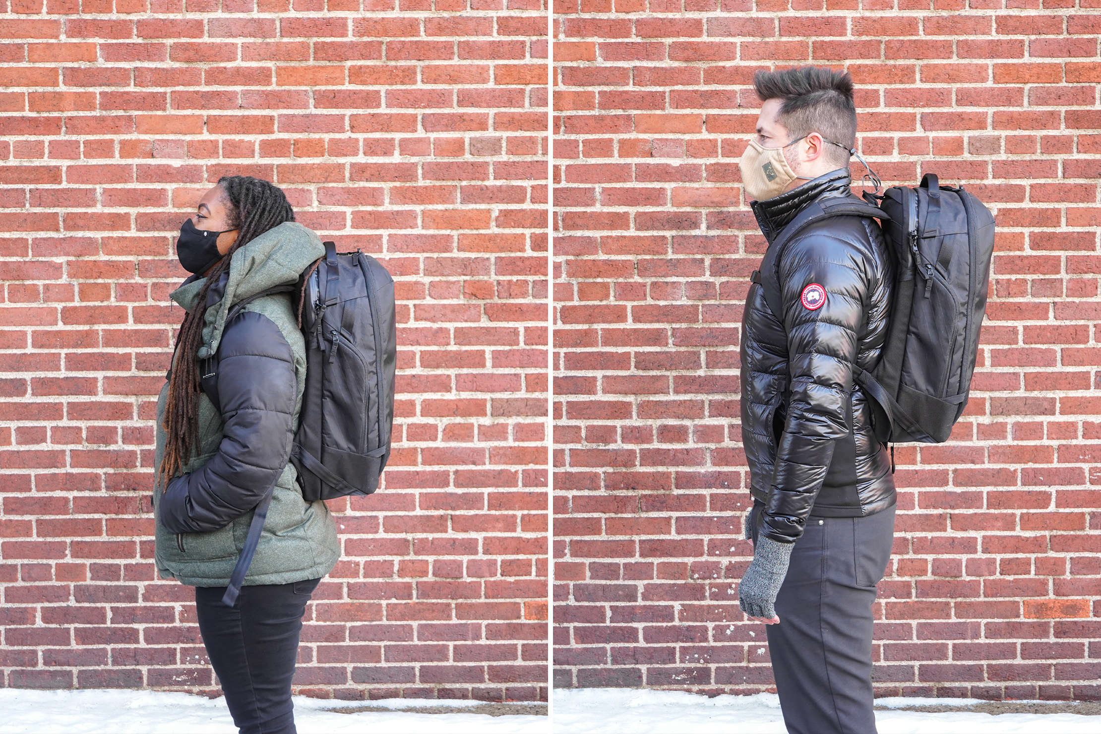Able Carry Max Backpack | Male/Female Fit Photos